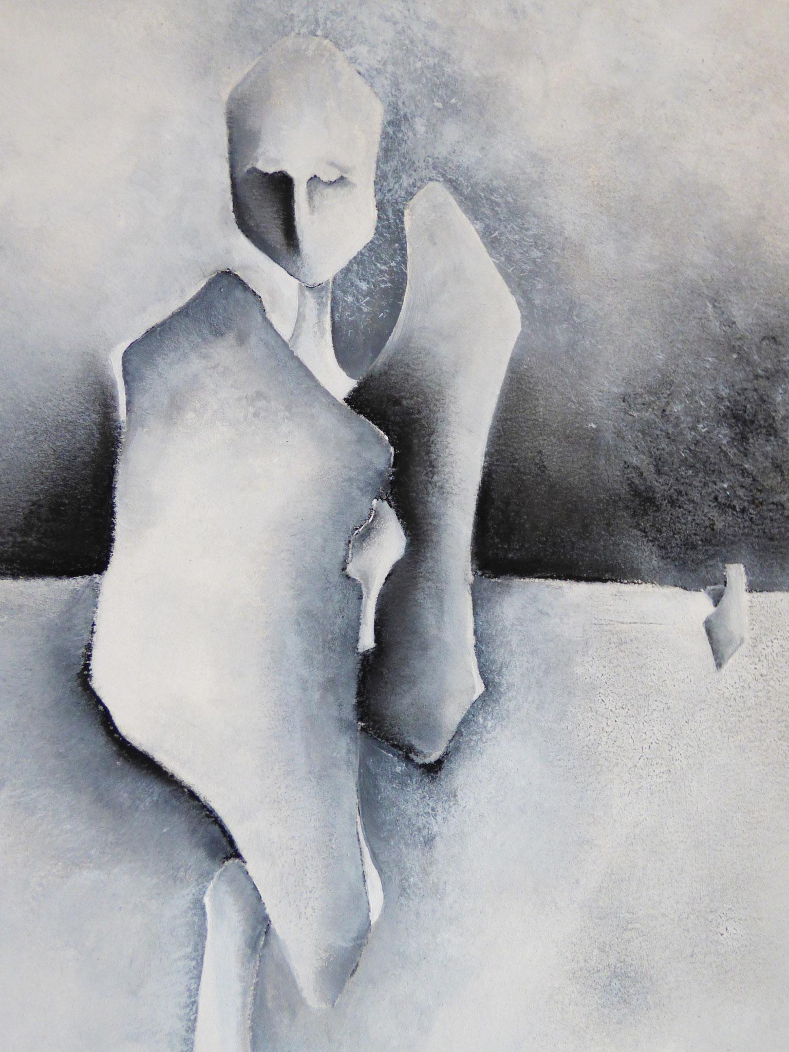 """""""Réalité immobile III"""" - Peinture, pastel sec"""