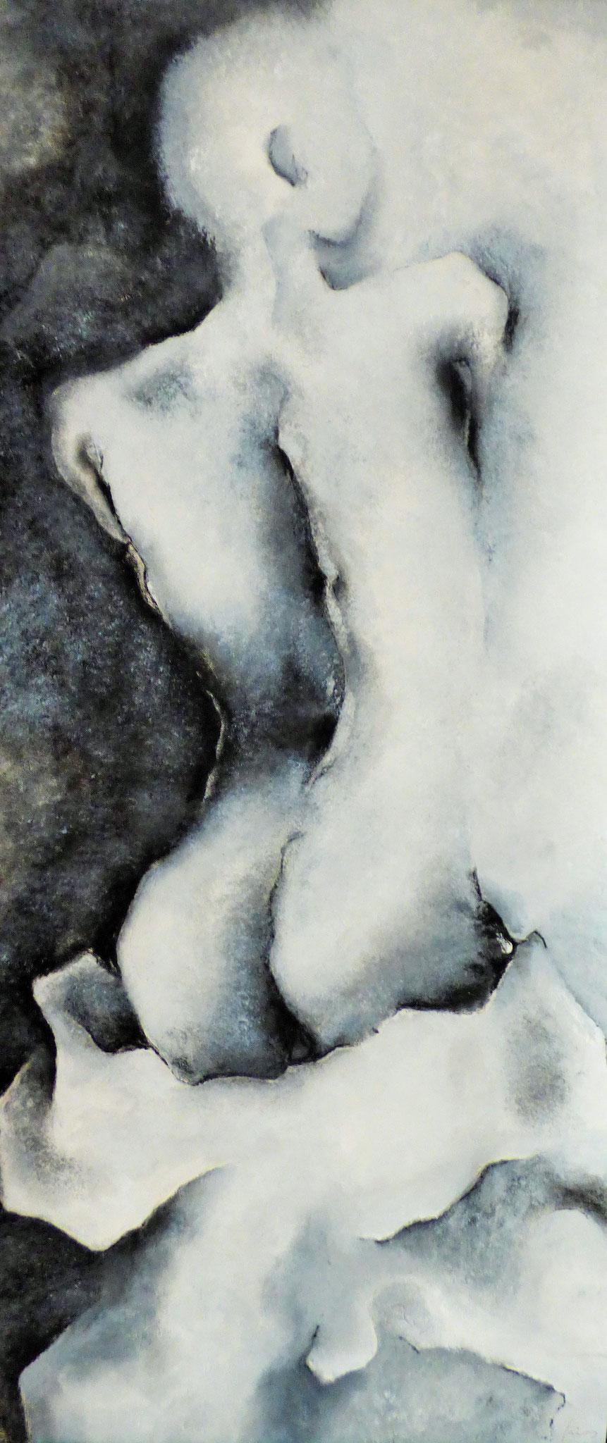 """"""" Sans titre"""" - peinture, pastel sec"""