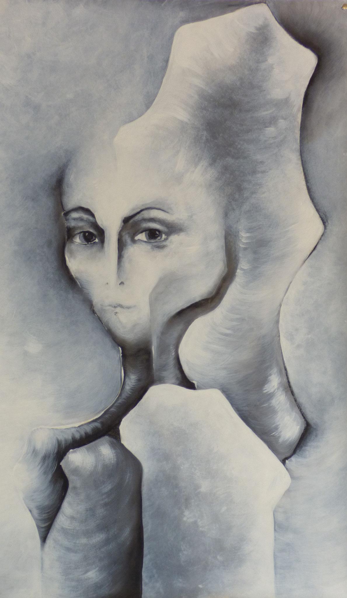 """""""Réalité immobile IV"""" - Peinture, pastel sec"""