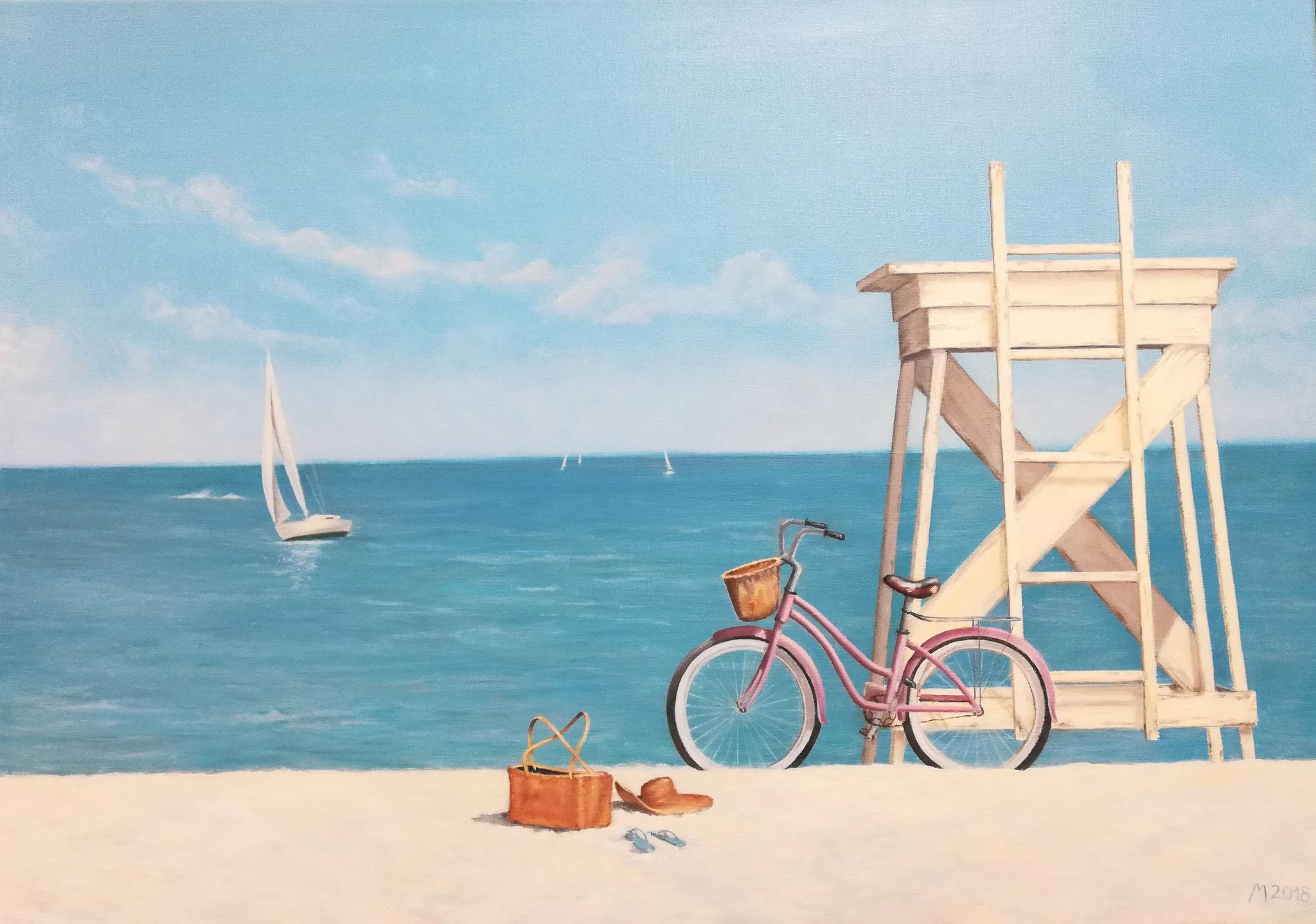 """""""Ocean Ride"""" 2018 nach dem Original von Zhen-Huan Lu, Öl 50x70"""
