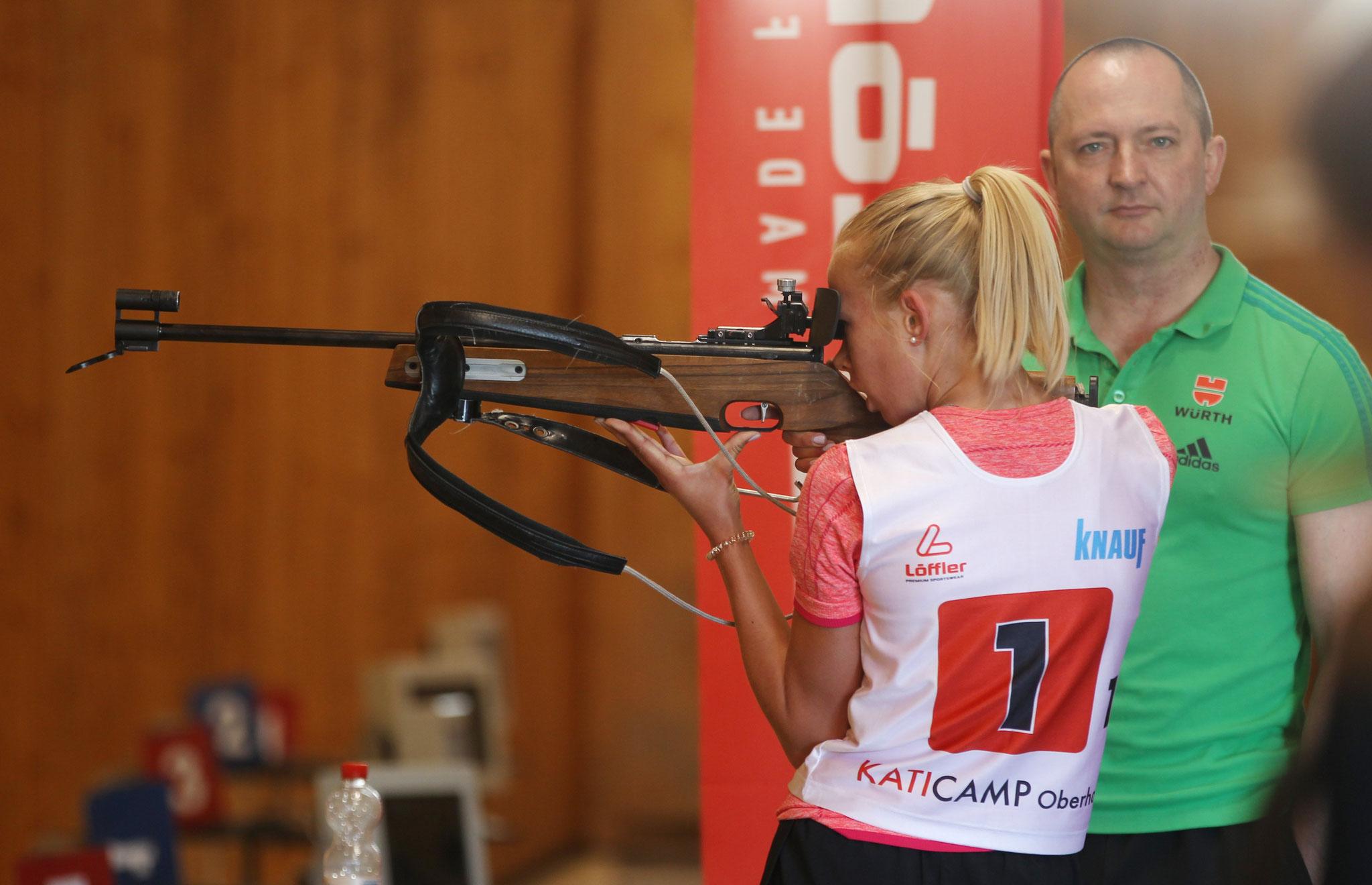 Schießtraining mit dem DSV-Waffenwart Sandro Brieslinger Foto: Karina Heßland
