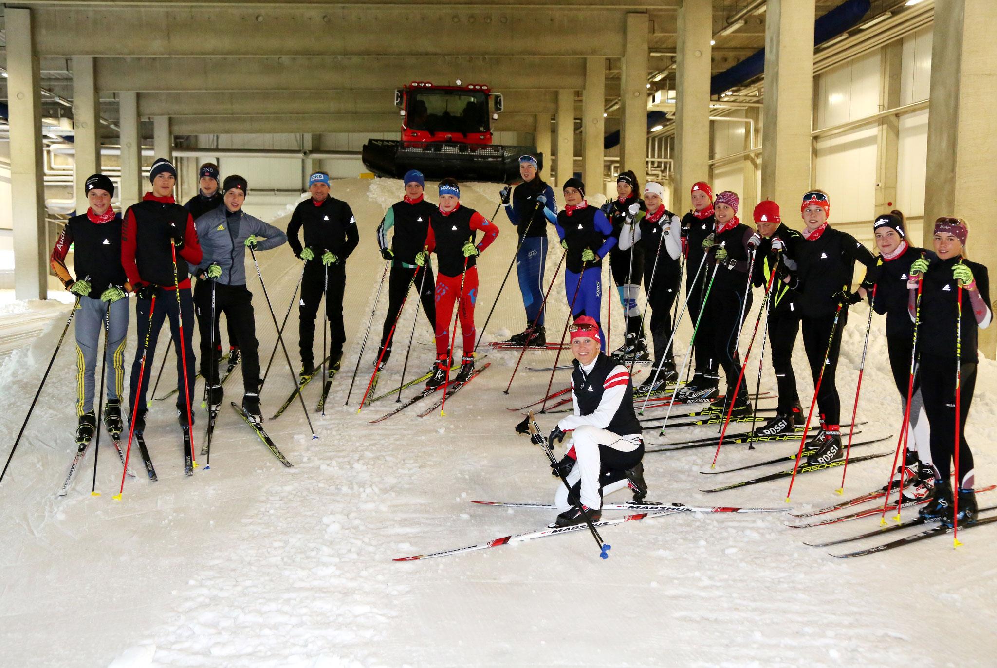 Techniktraining in der Skihalle; Foto: Karina Heßland