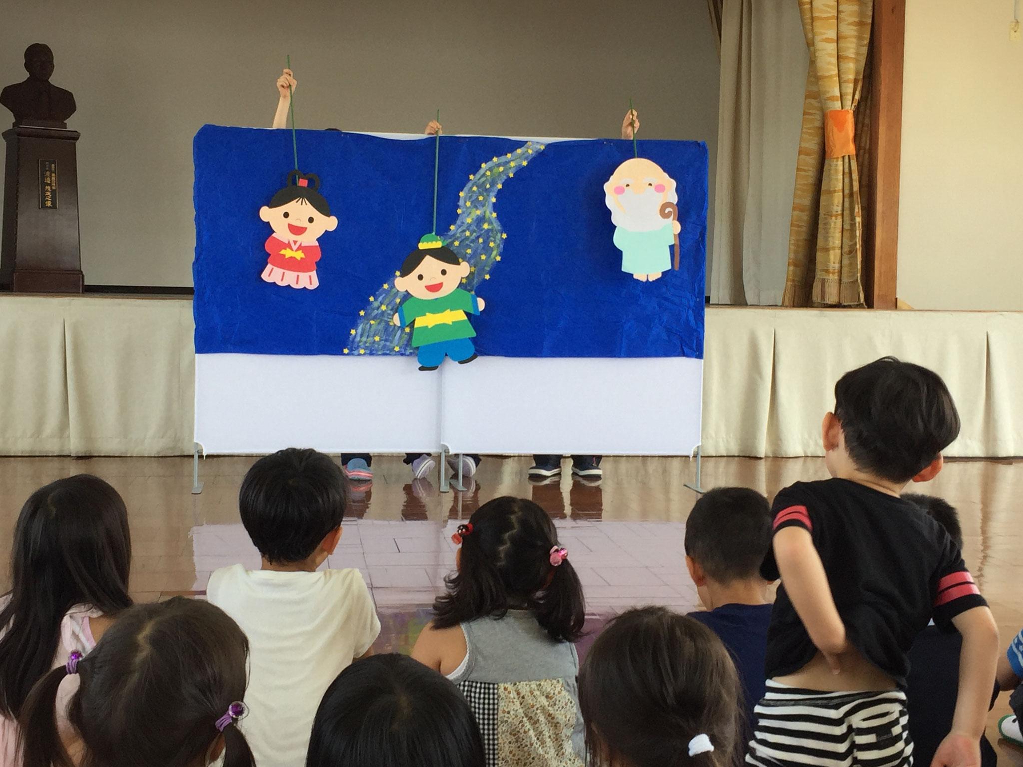 七夕のペープサート見ました!!