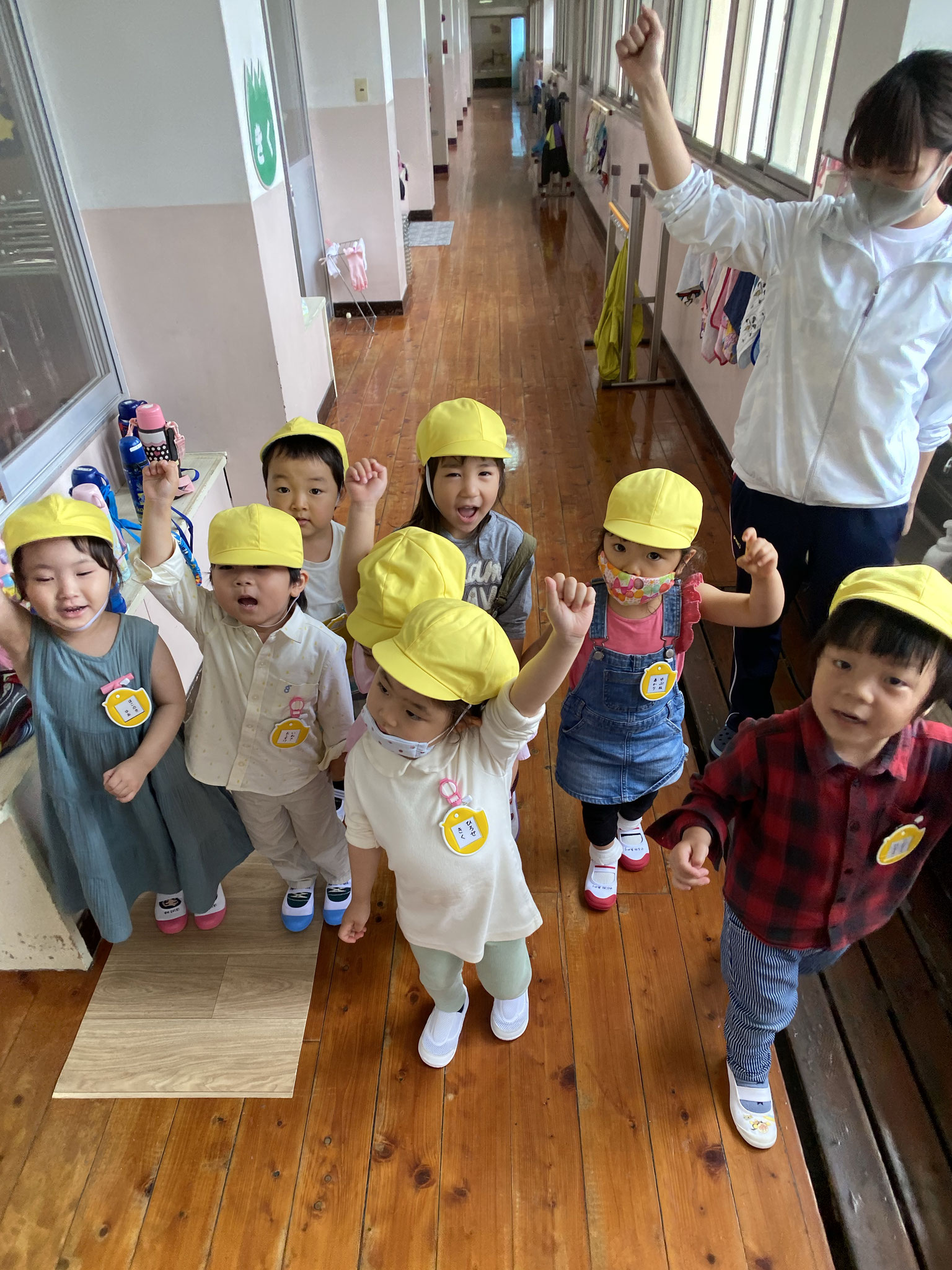 幼稚園探検にいくぞ~!「お~!!」