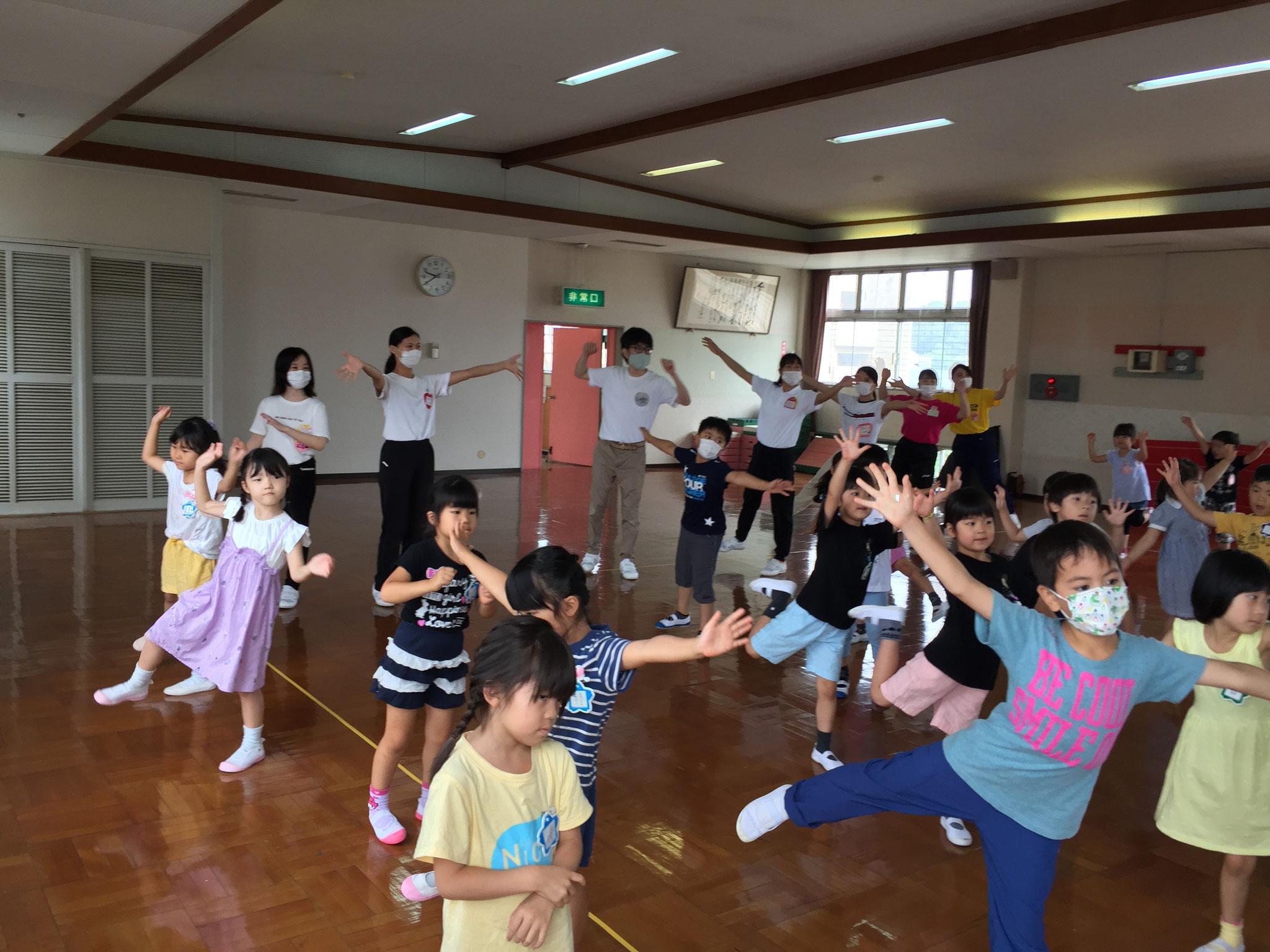 みんなで夏祭りの練習もしました。