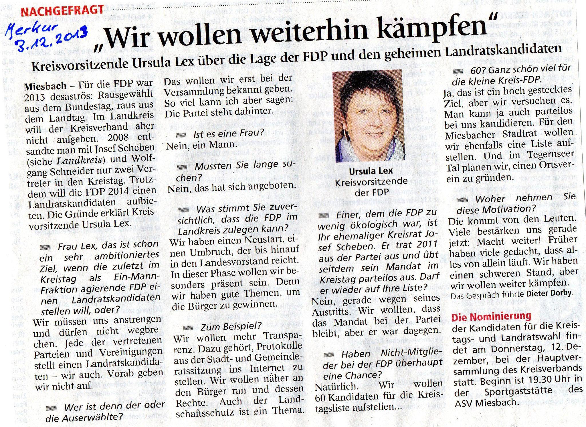 """03. Dezember 2013: """"Wir wollen weiterhin kämpfen"""" (.jpg)"""
