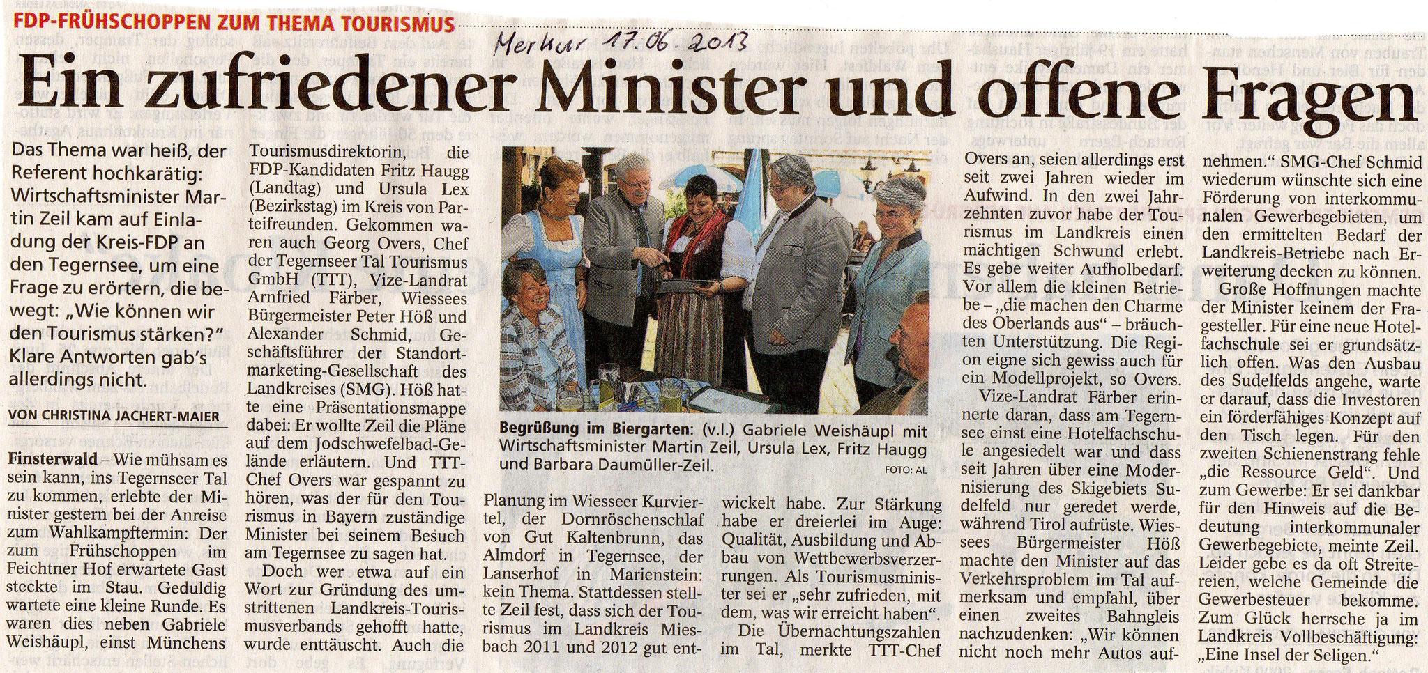 17. Juni 2013: FDP-Frühschoppen zum Thema Tourismus (.jpg)