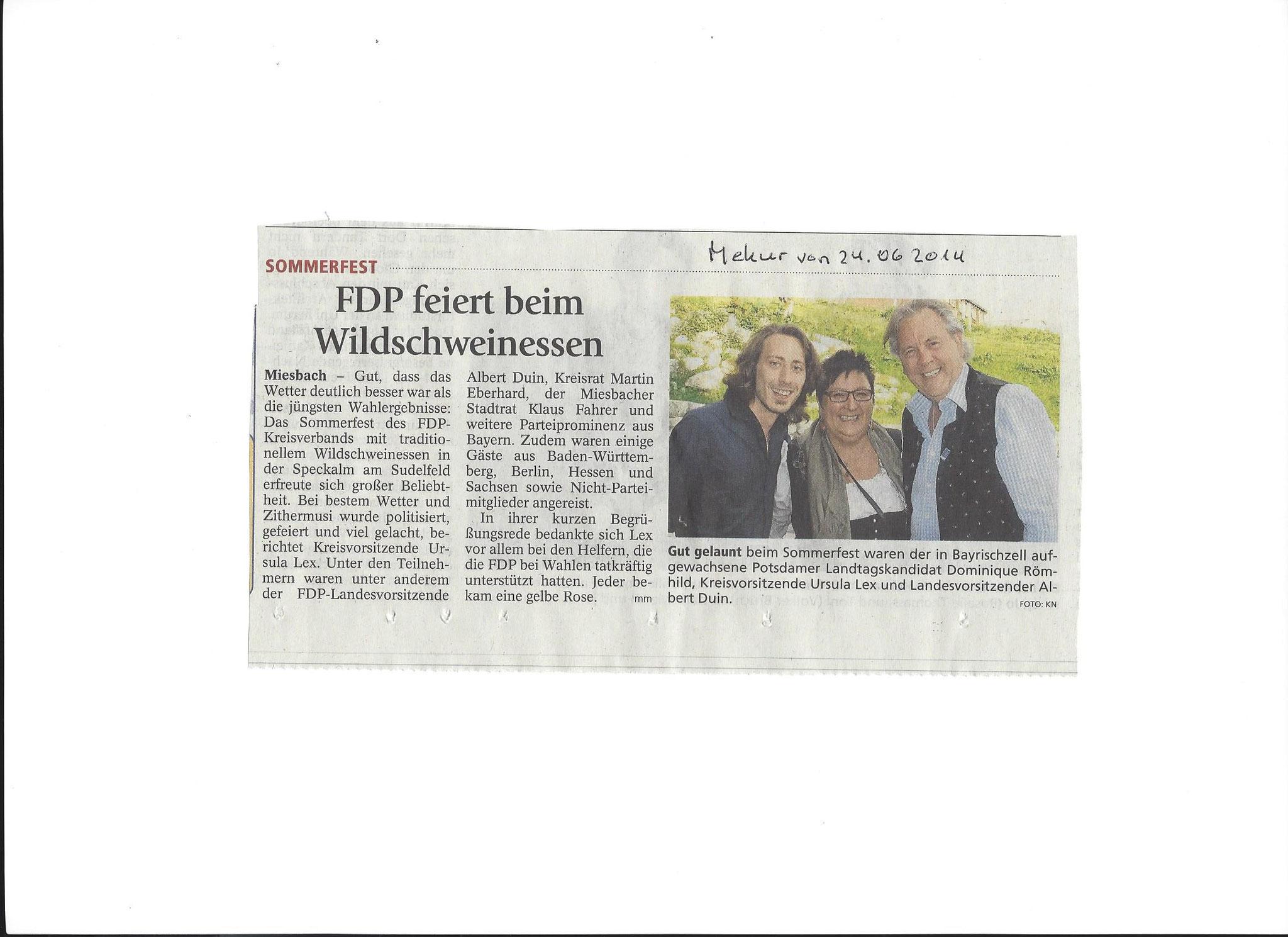 24. Juni 2014: FDP feiert beim Wildschweinessen (.jpg)