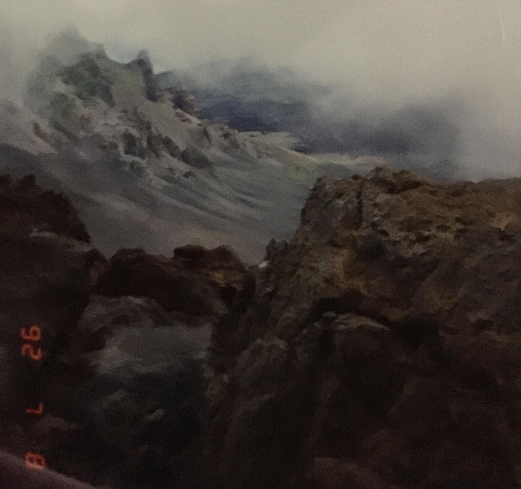 1992年ハワイ ハレアカラ火山口