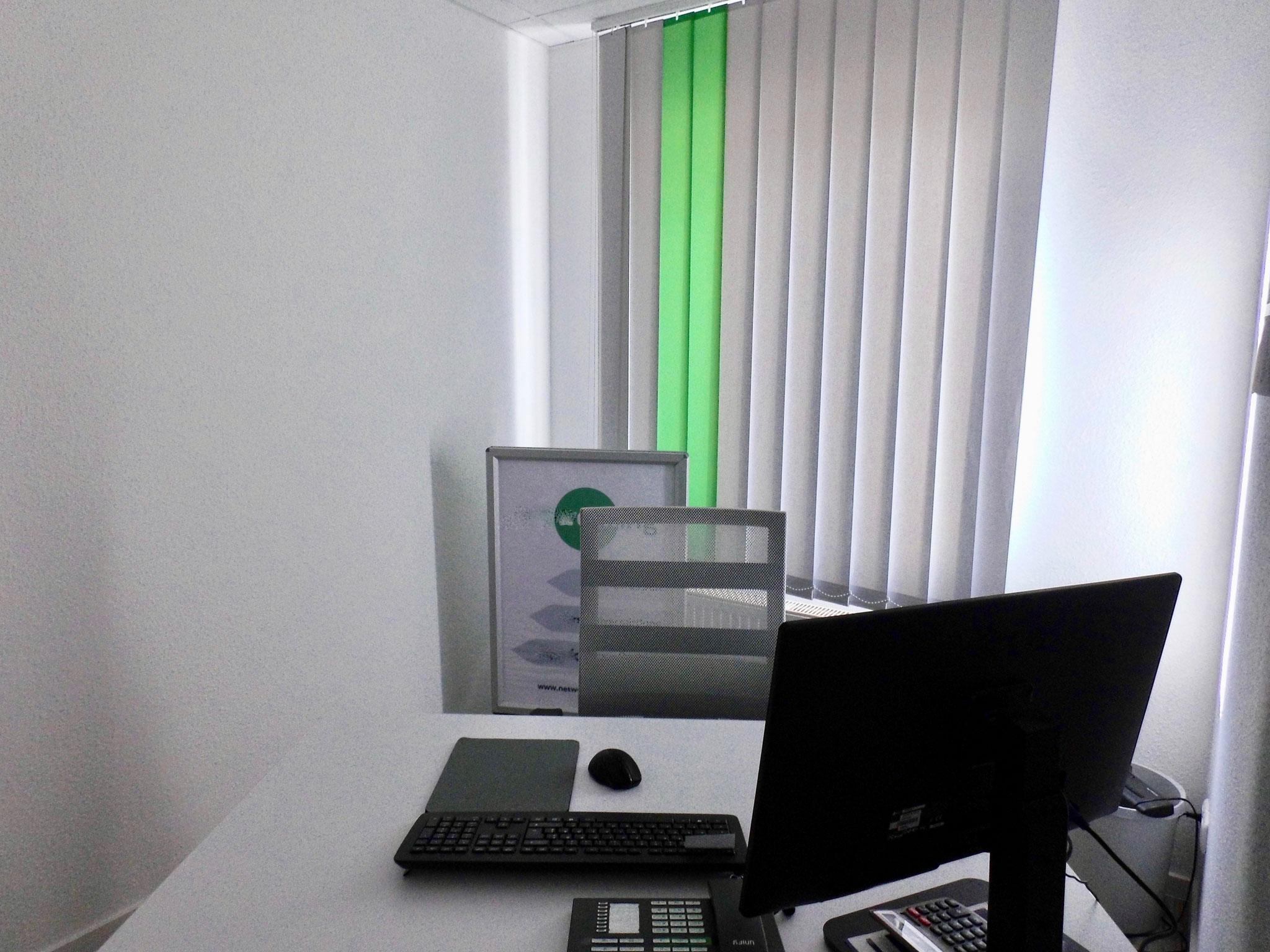 Blick in den separaten Büroraum