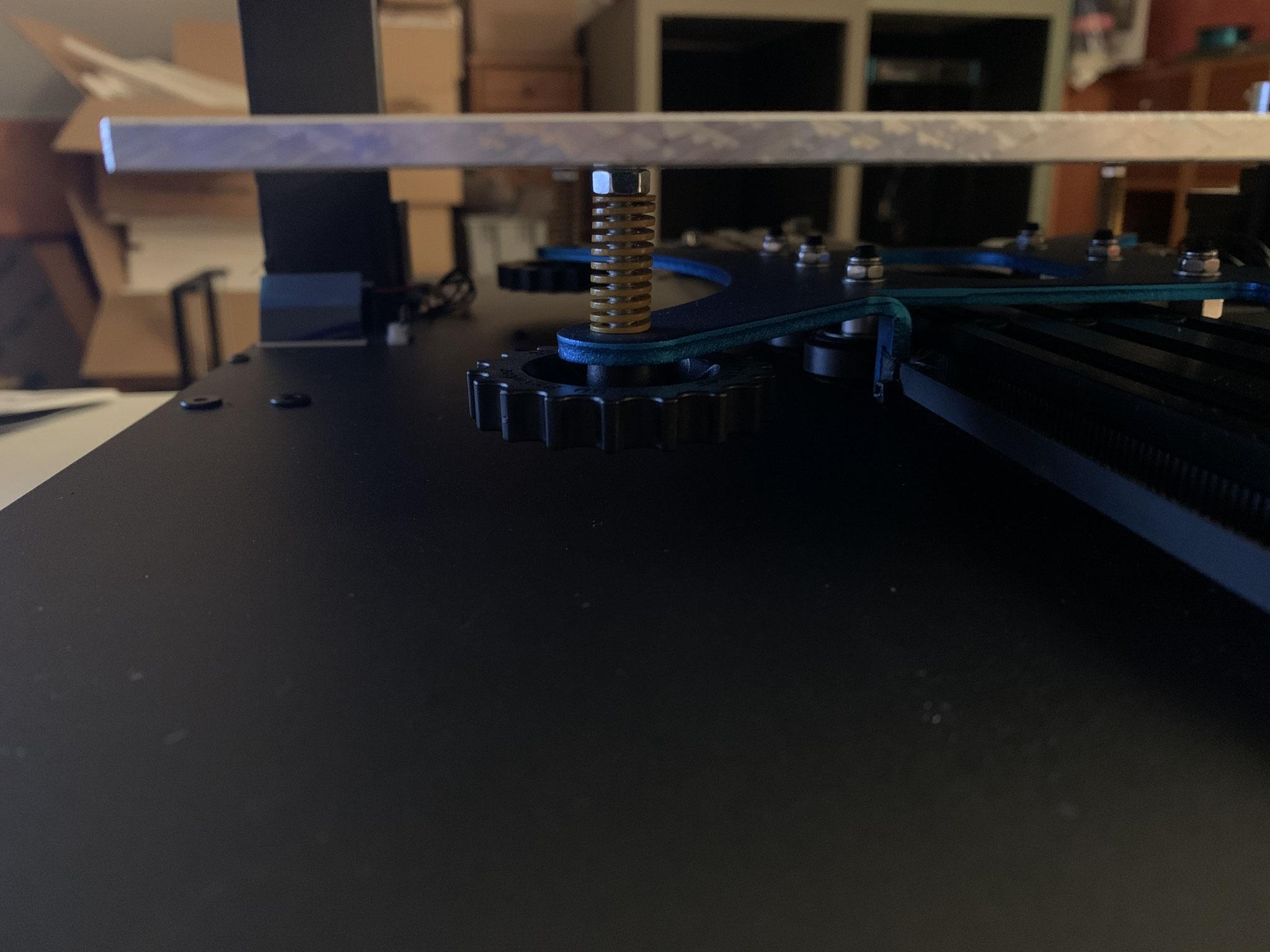 Sidewinder X1 mit plangefräster Aluminium-Guss-Platte 5 mm