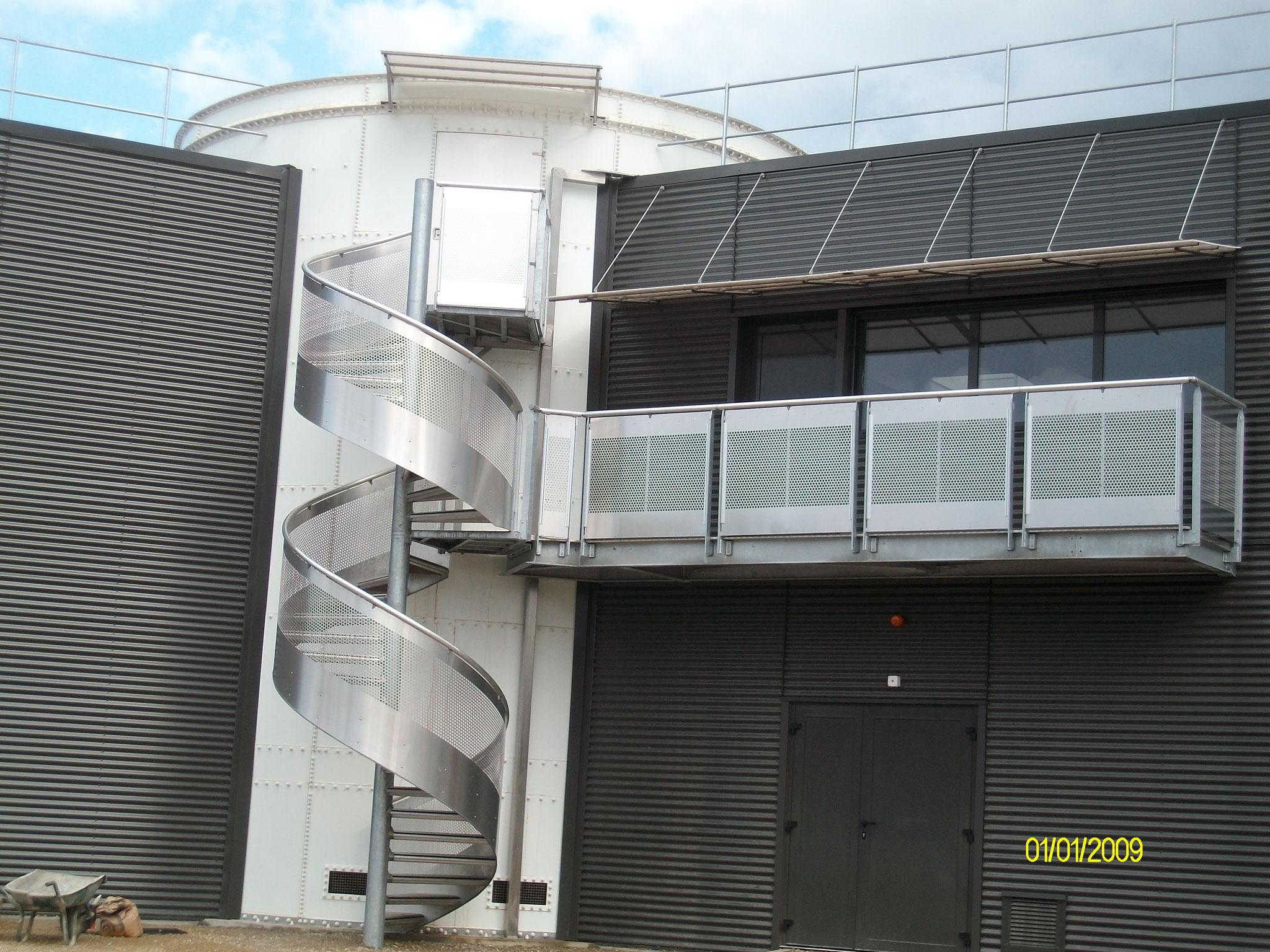 Escalier et balcon