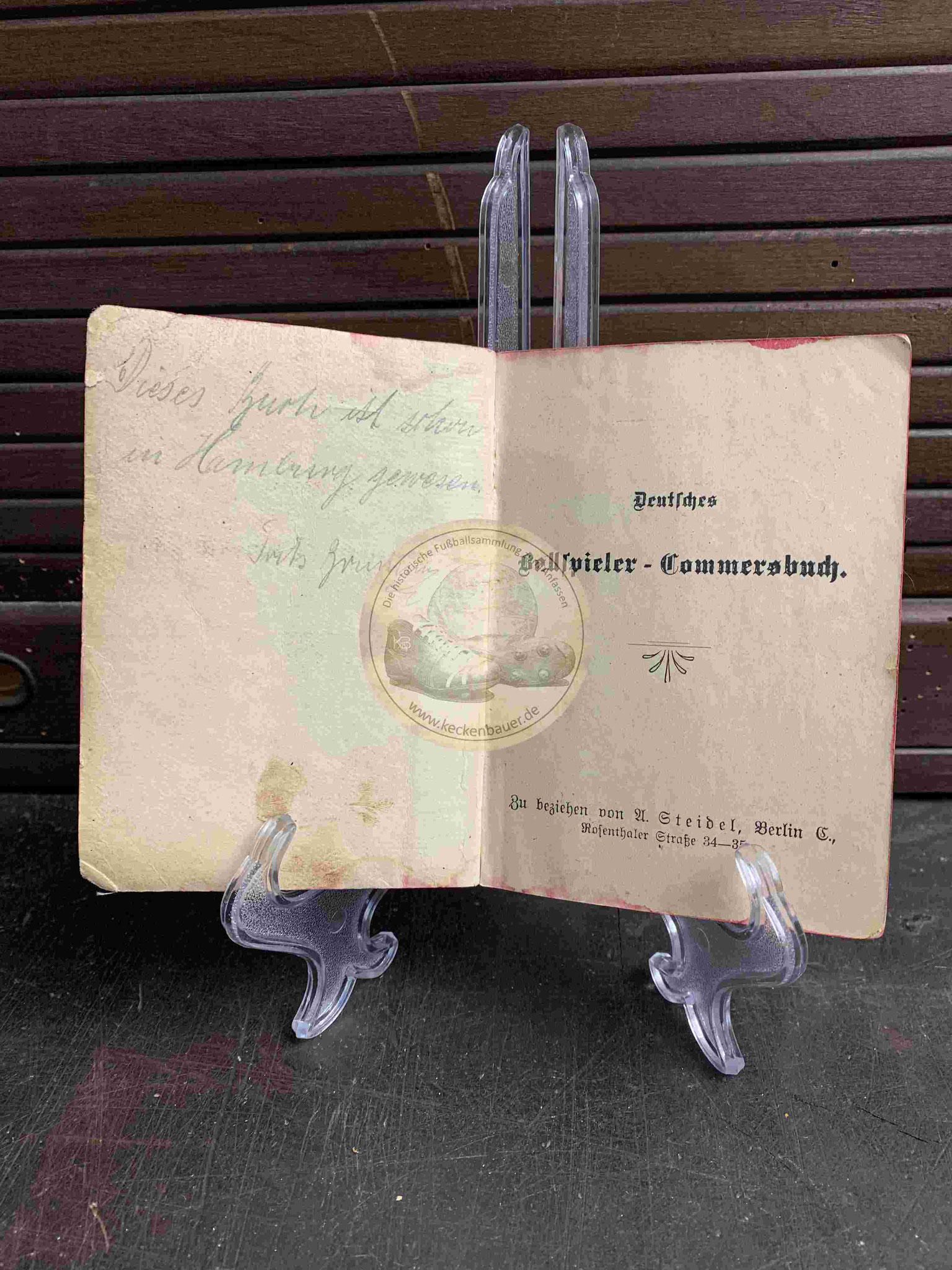 Deutsches Ballspieler- Commersbuch von 1920, Fußball-, Cricket-, Trink- und Volkslieder