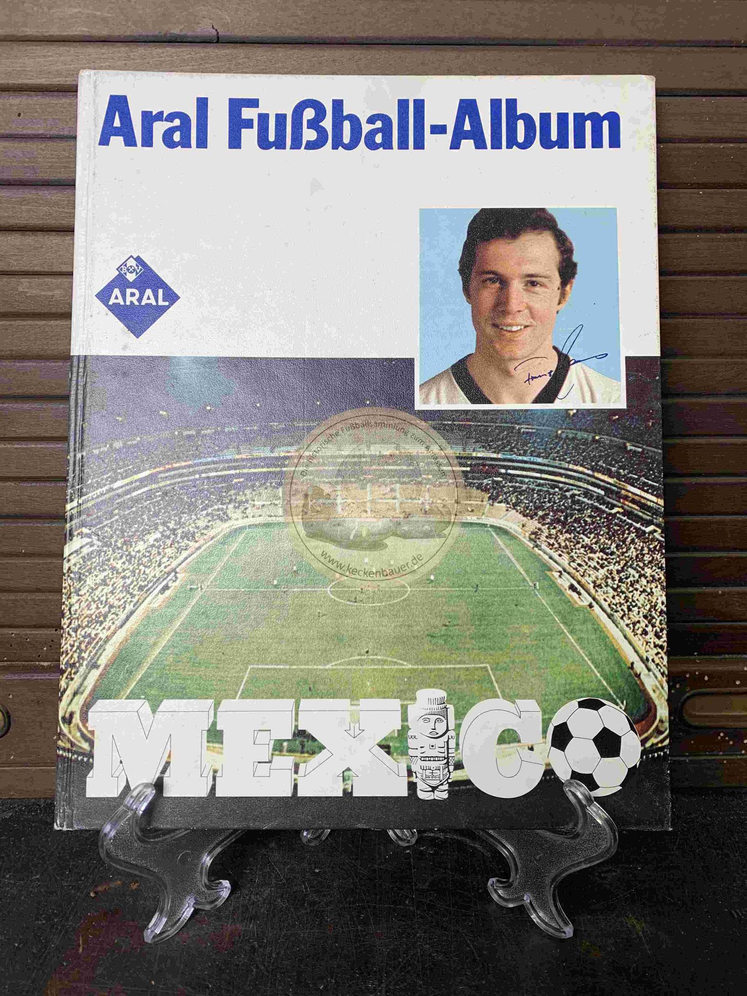 ARAL Fußball Album zur Weltmeistershaft in Mexiko aus dem Jahr 1970