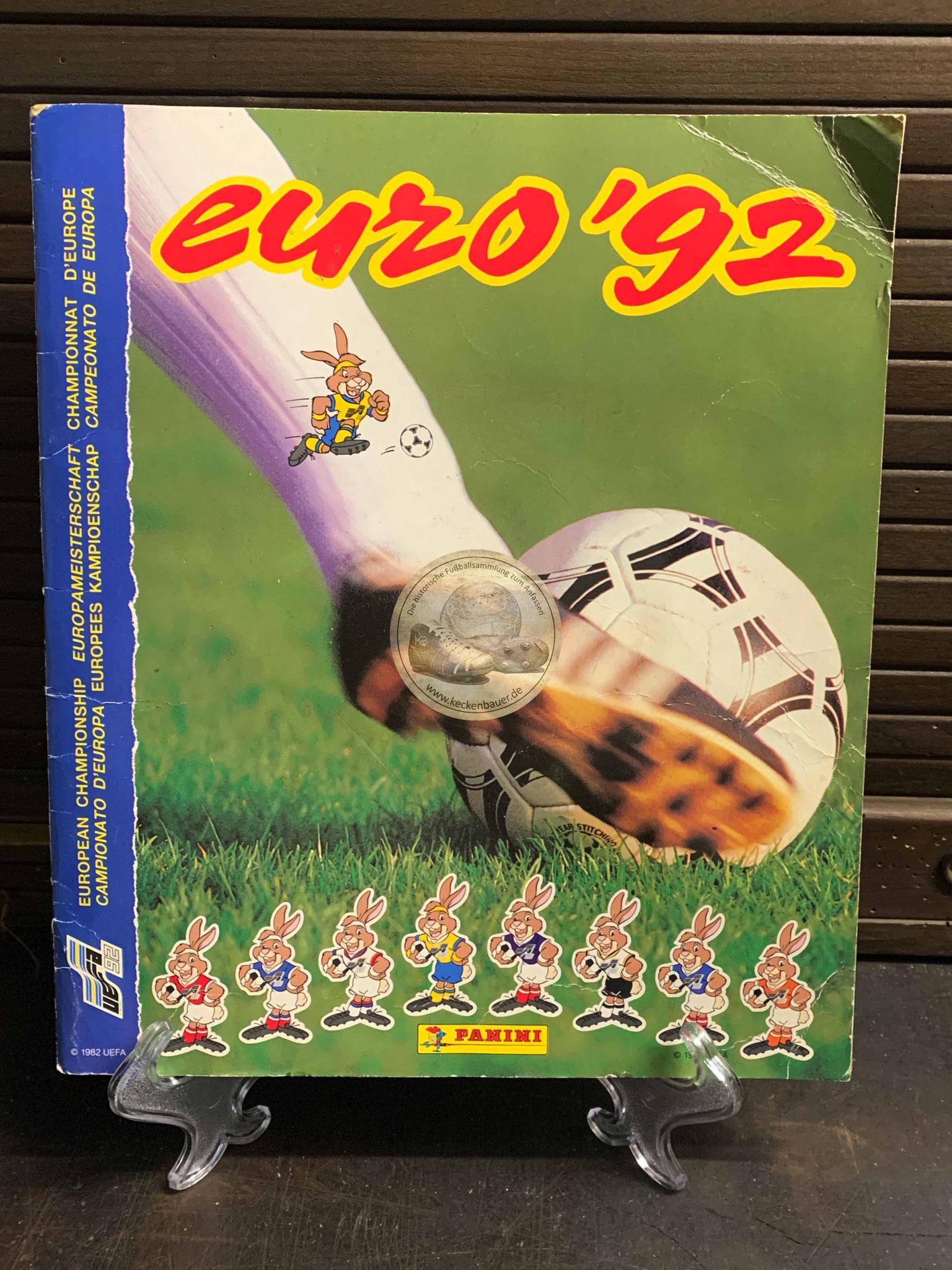 Panini Album von der EM 1992 in Schweden