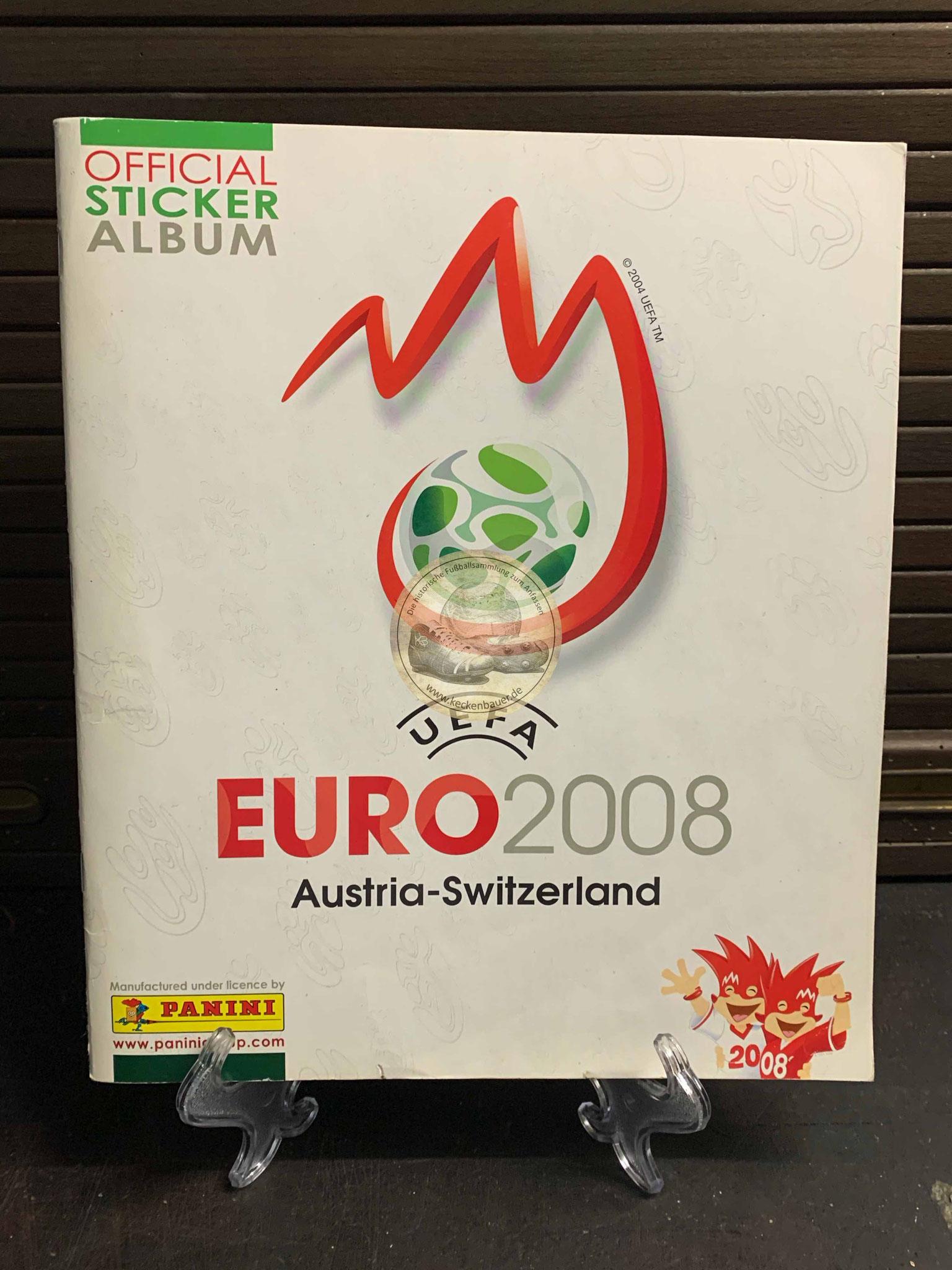 Panini Album von der EM 2008 in Österreich und der Schweiz