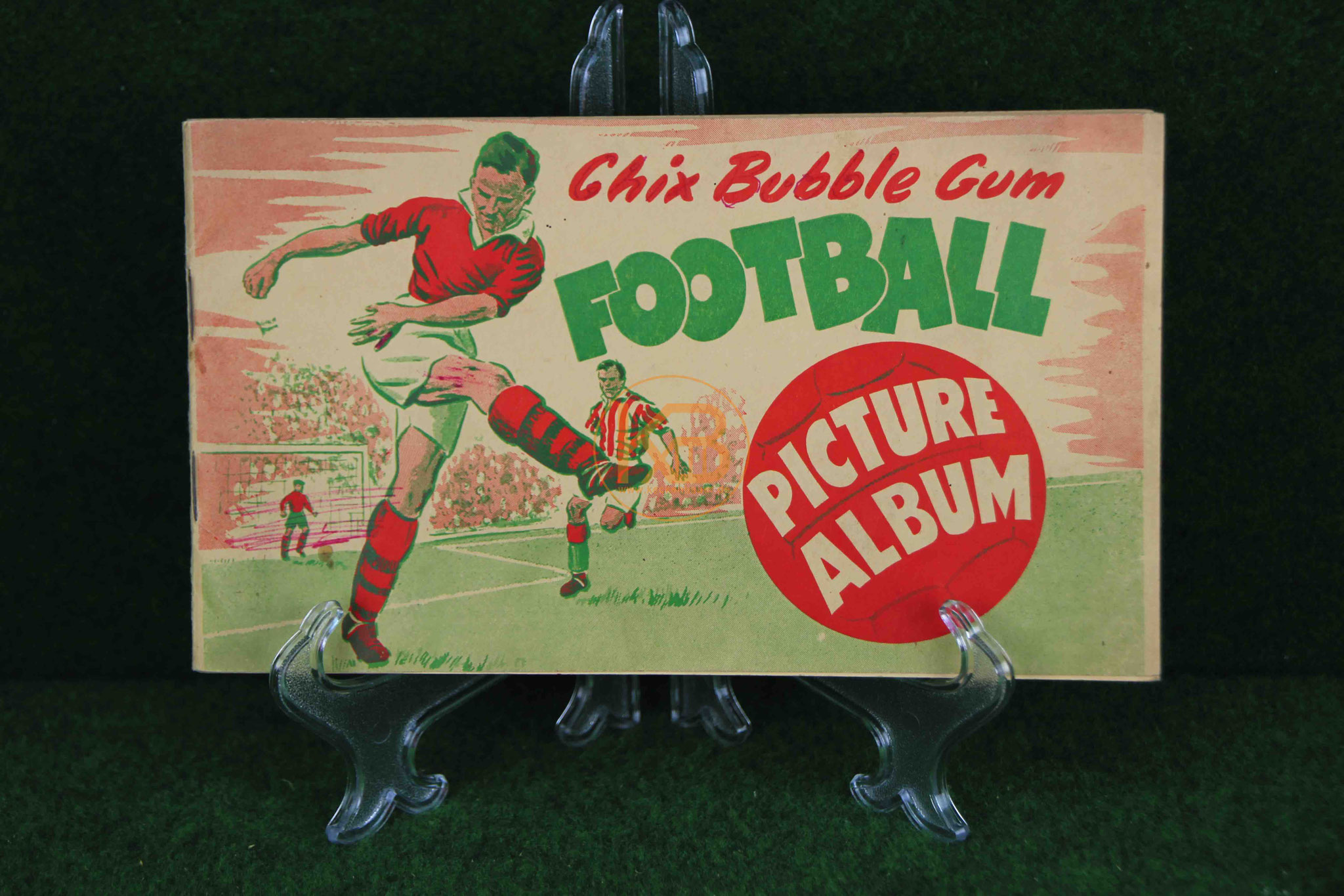 Sammelalbum Chic Bubble Gum Football Picture Album aus den 1950er Jahren.