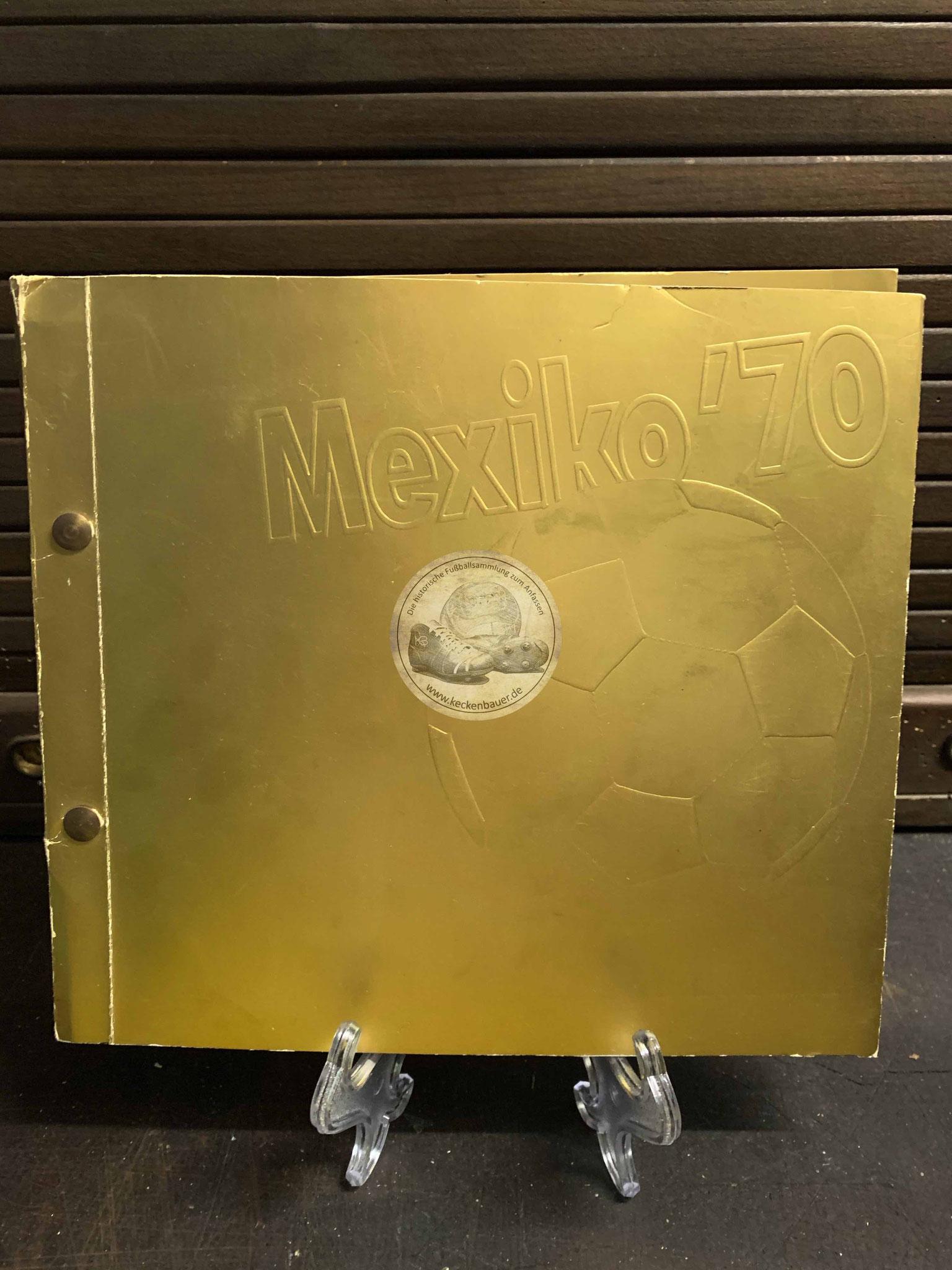 """Das """"goldene Album"""" Mexiko '70 Sammelbilderalbum von Occidental Petroleum"""