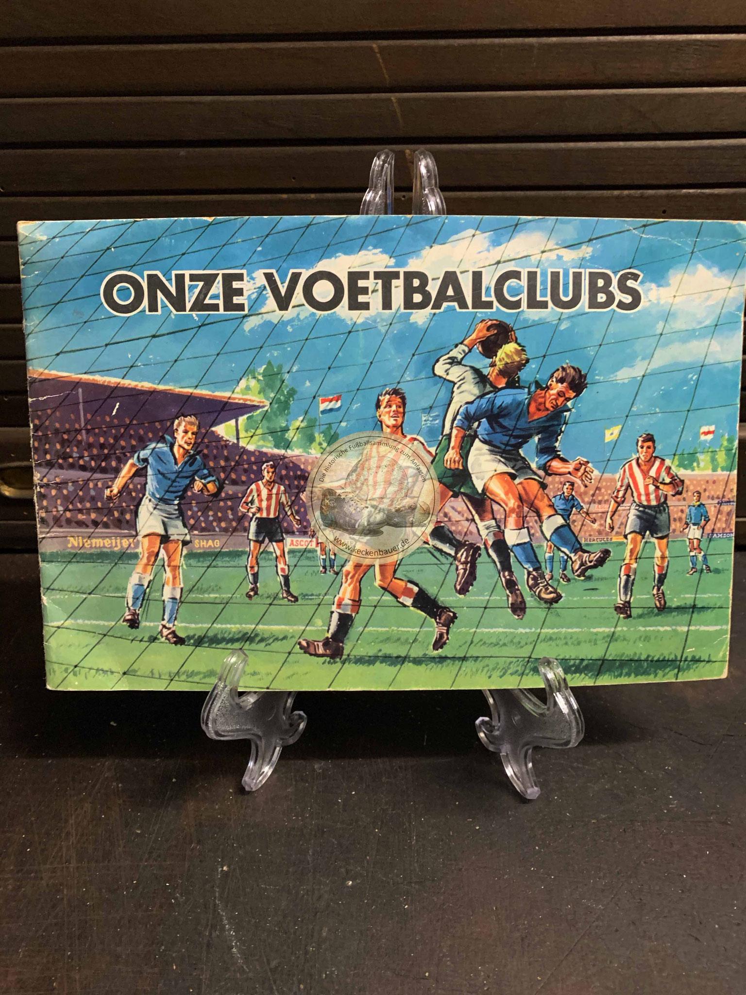 """Sammelalbum """"onze Voetbalclubs"""" aus dem Jahr 1959"""