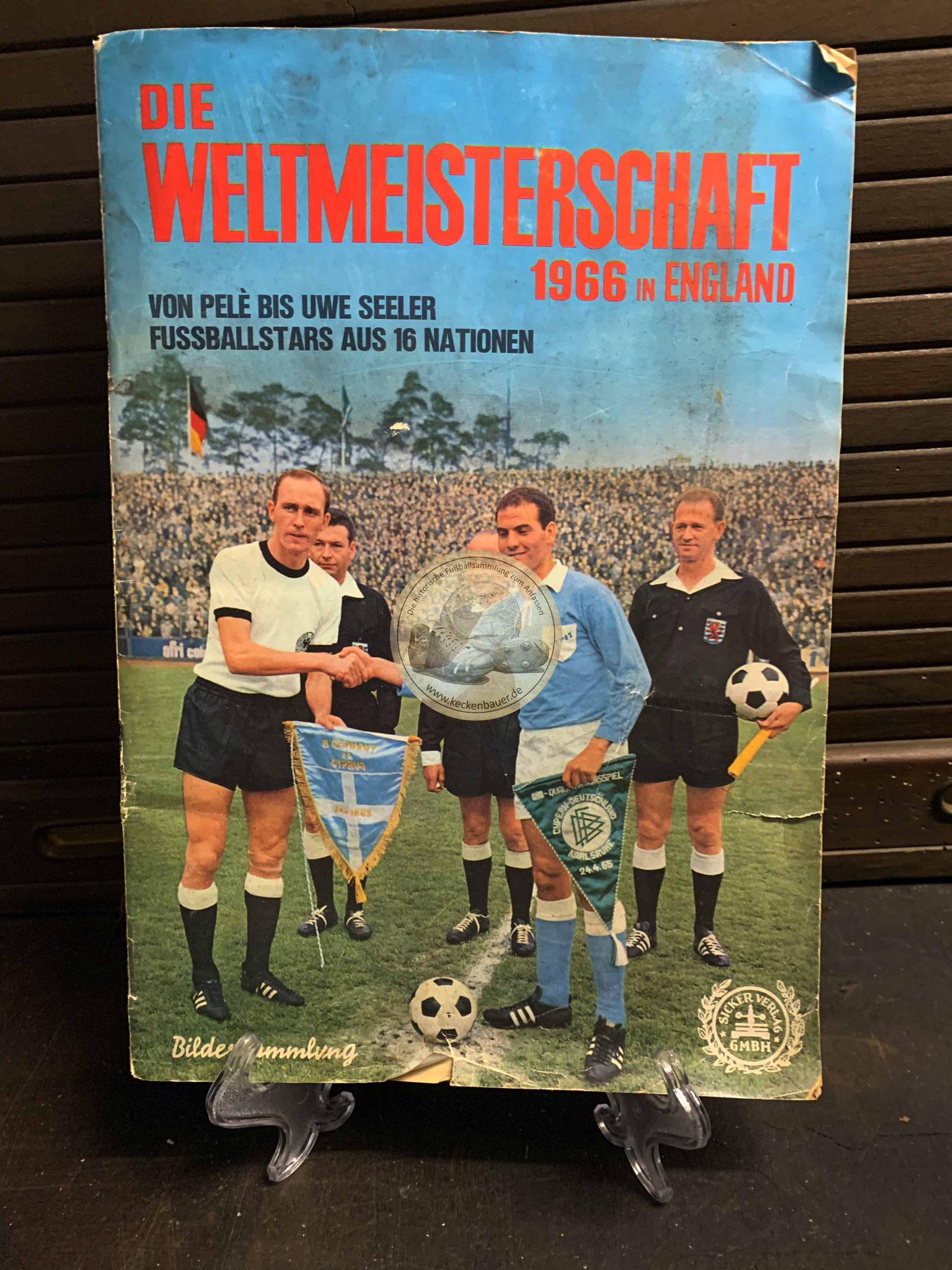 Sammelalbum Die Weltmeisterschaft 1966 in England vom Sicker Verlag