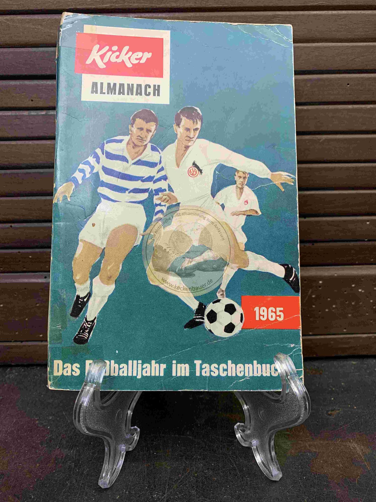 Kicker Almanach Das Fußballjahr im Taschenbuch aus dem Jahr 1965