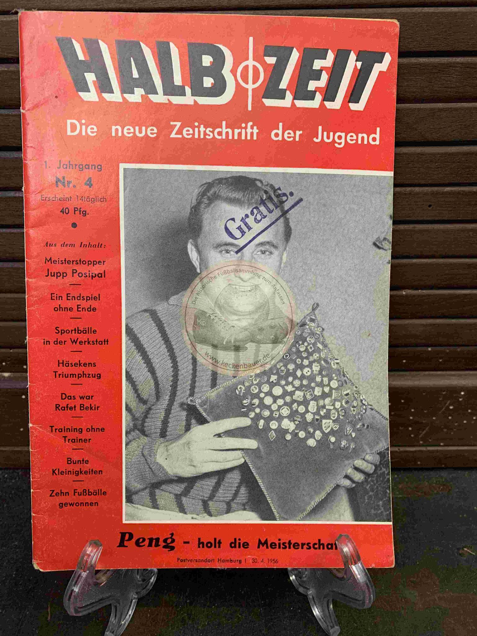 Halbzeit Die neue Zeitschrift der Jugend aus dem Jahr 1956