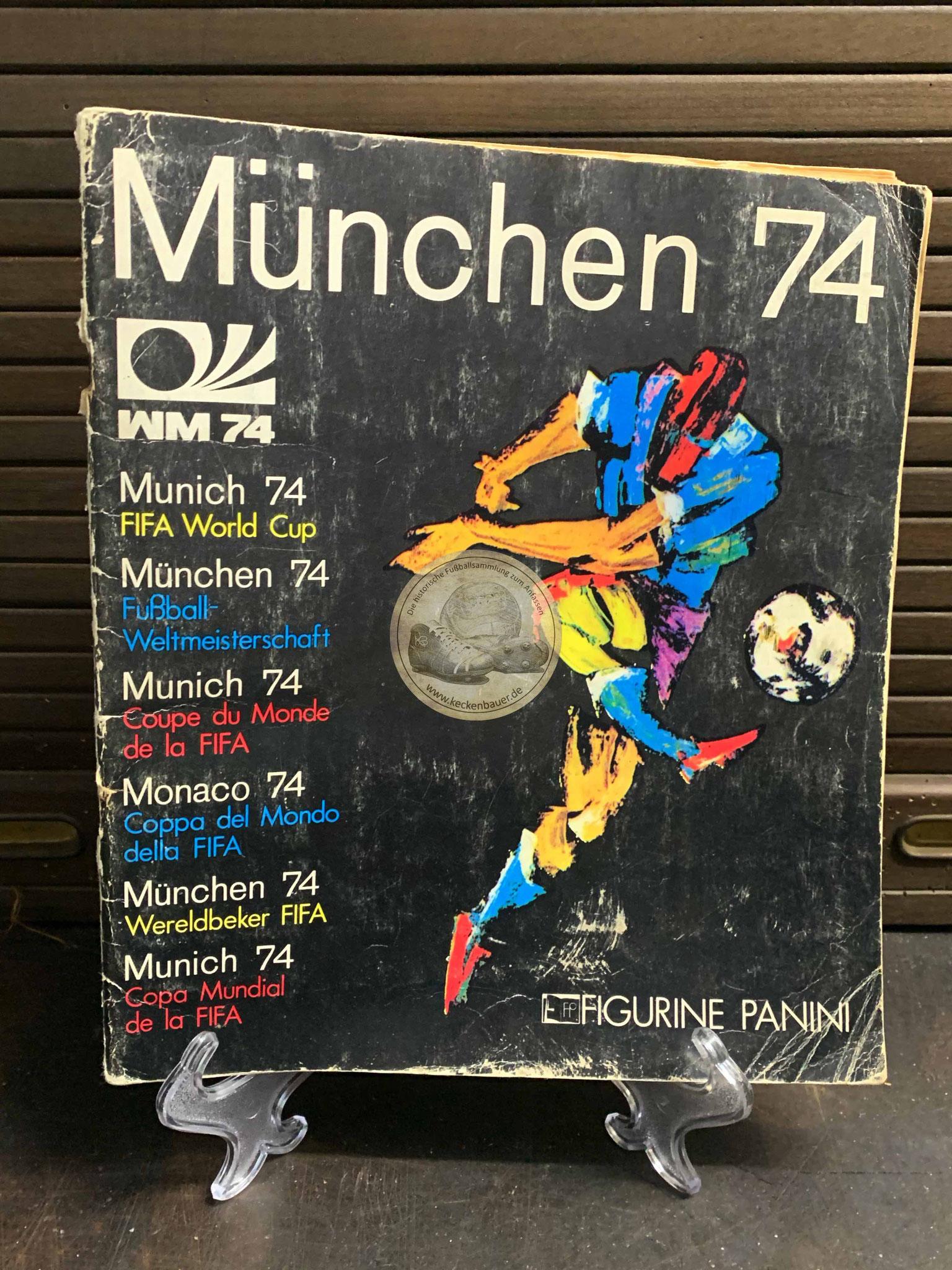 Panini Album von der WM 1974 in Deutschland