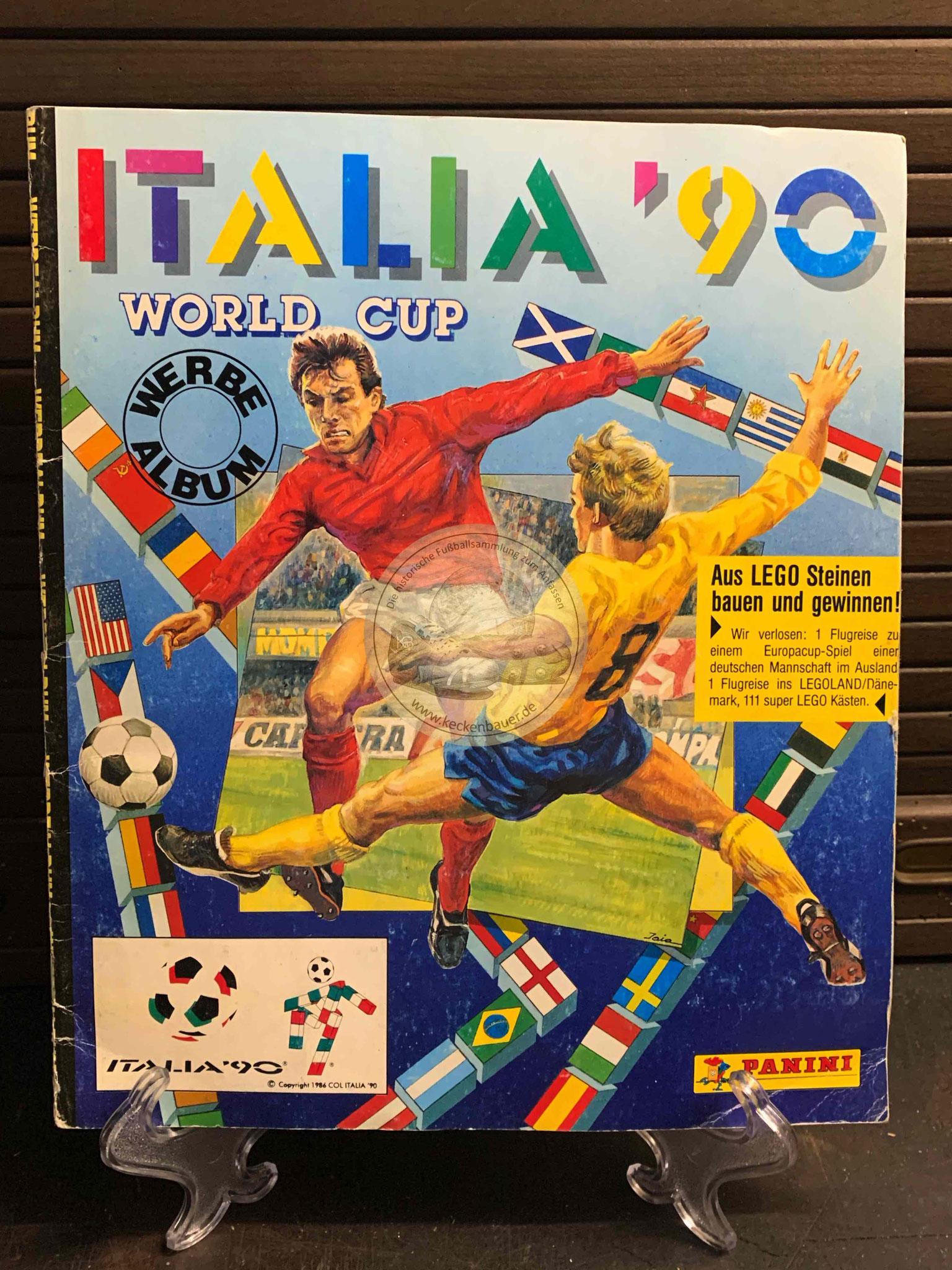 Panini Album von der WM 1990 in Italien