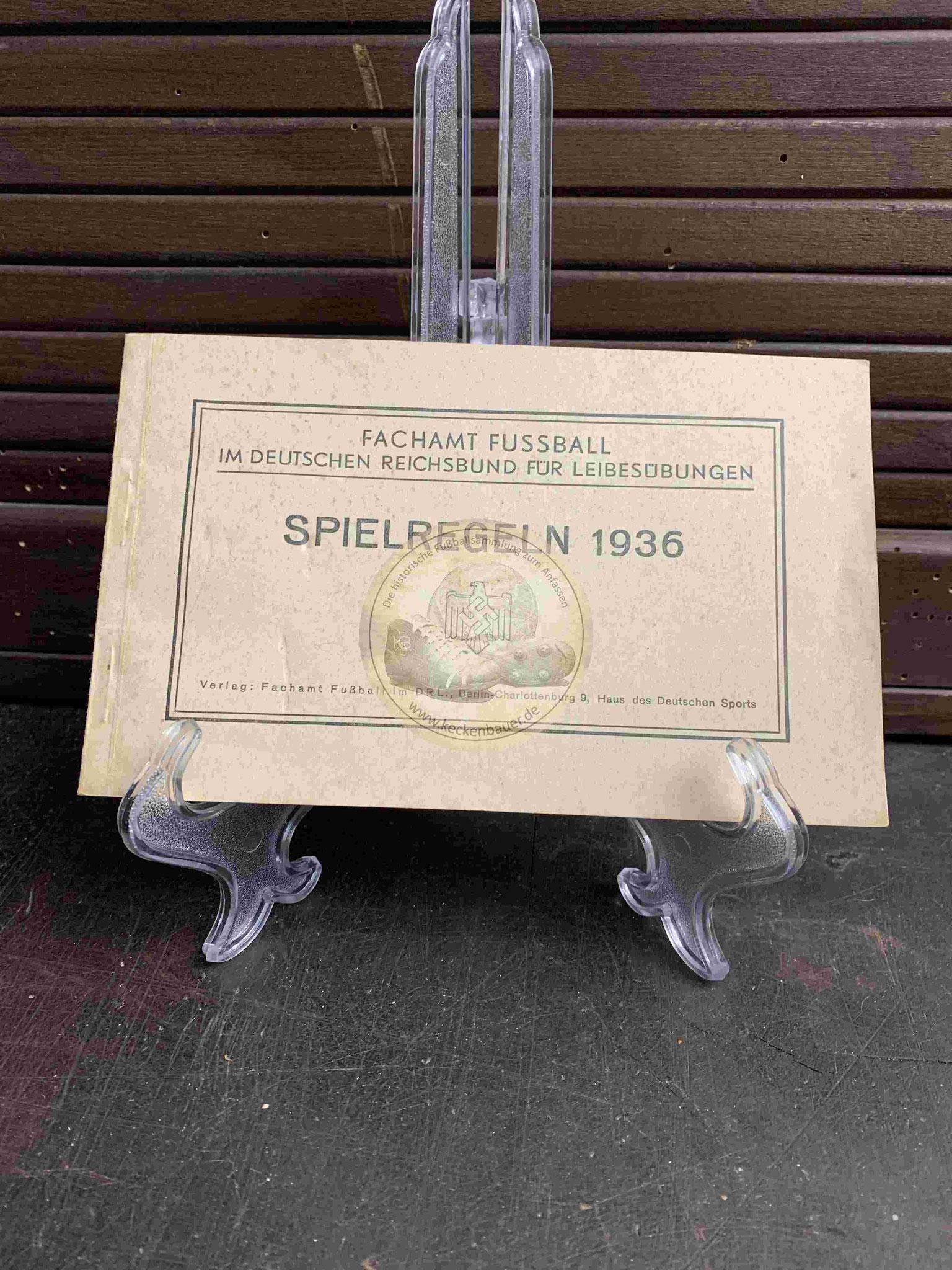 Fußballregeln des DFB aus dem Jahr 1936