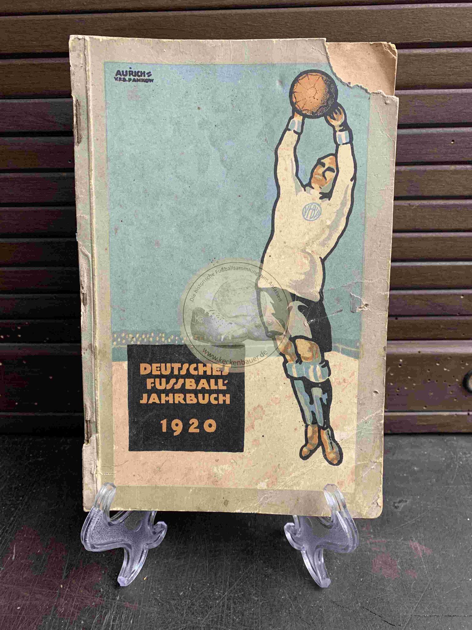 Deutsche Fussball Jahrbuch vom DFB aus dem Jahr 1920