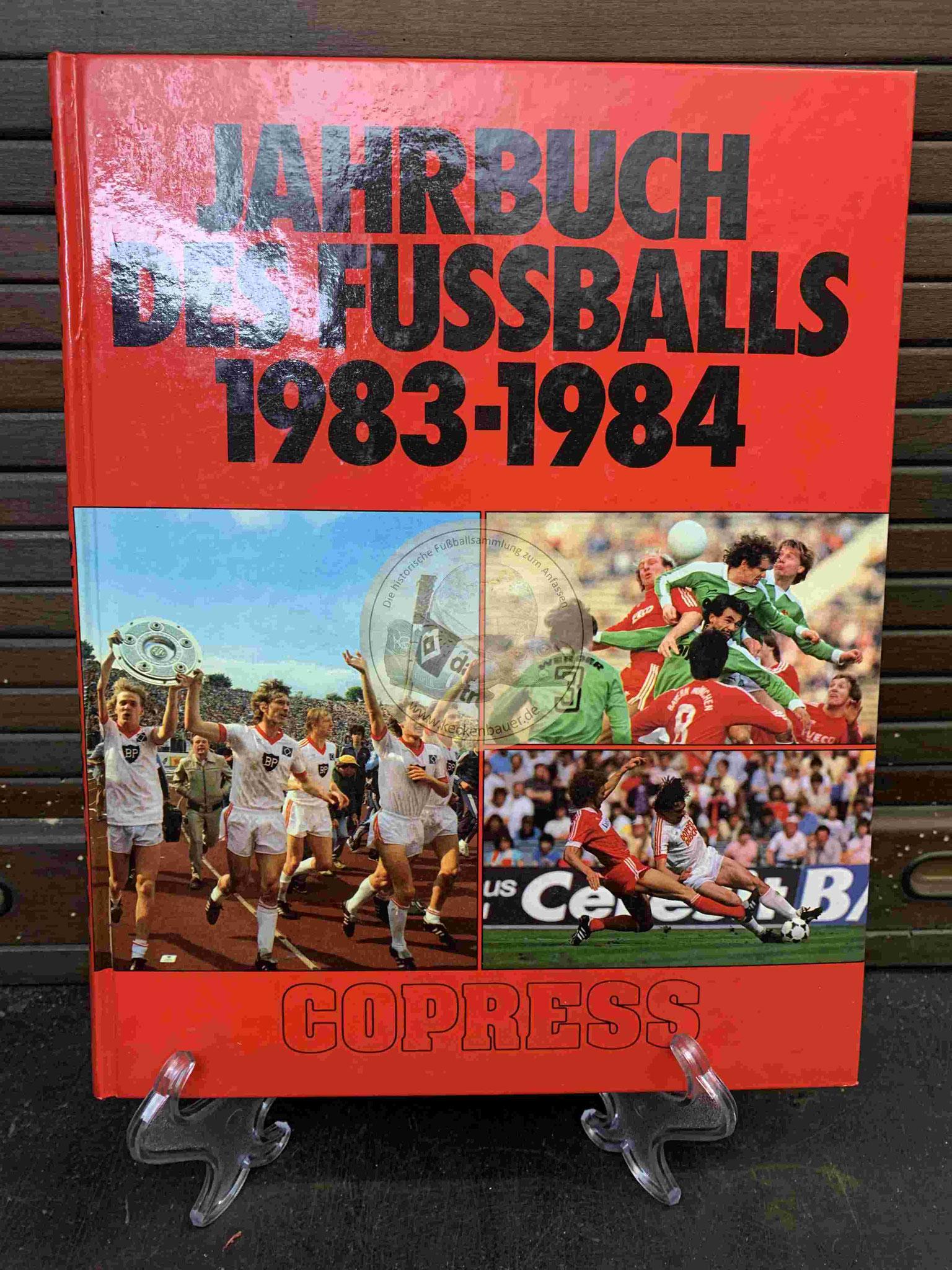 Jahrbuch des Fußballs 1983/1984 vom Copress Verlag.