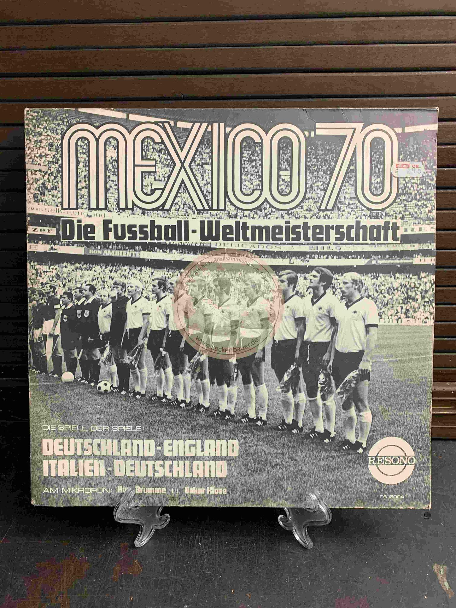 1970 Mexico 70 Die Fussball-Weltmeisterschaft Deutschland - England und Italien - Deutschland