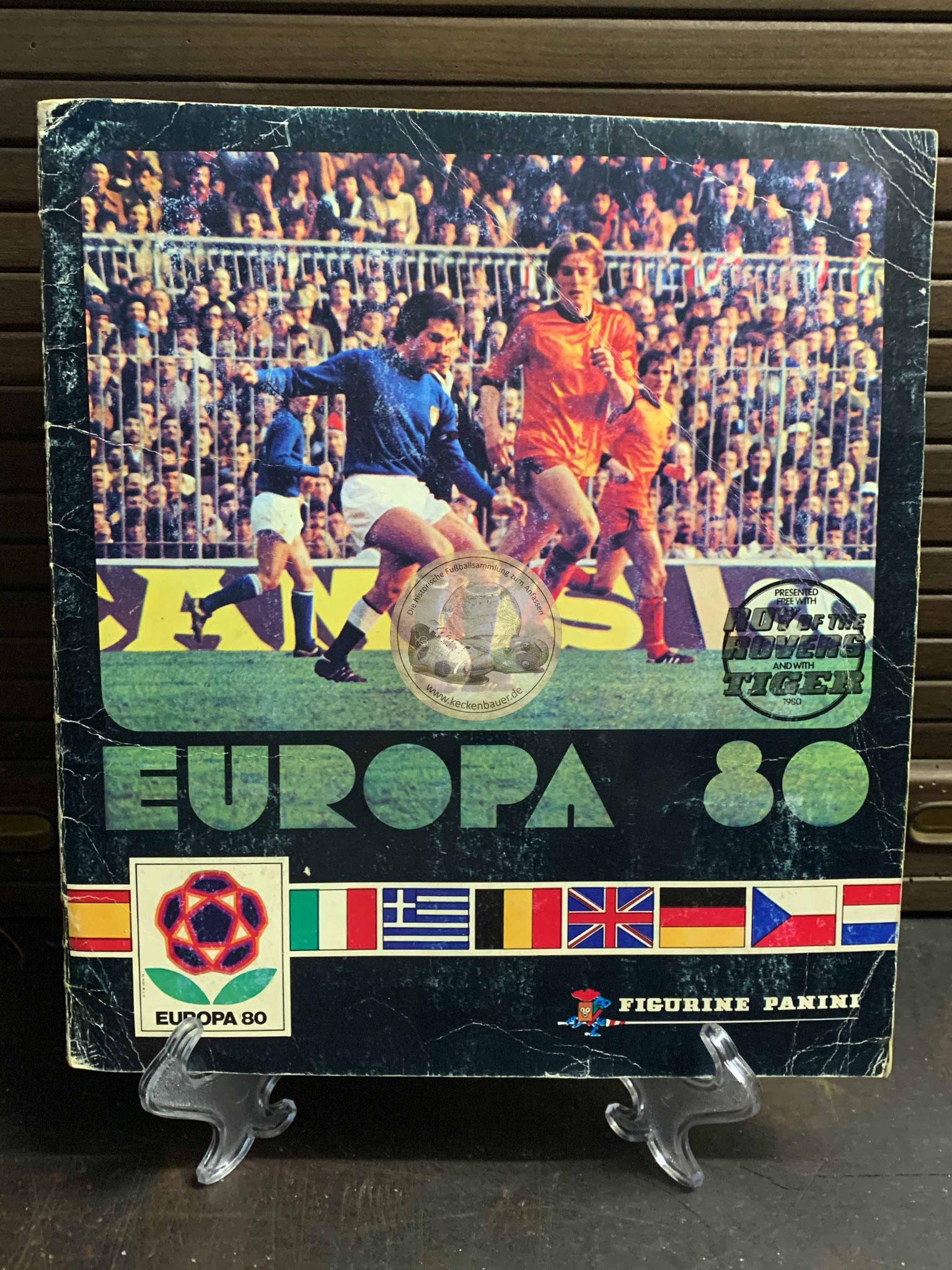 Panini Album von der EM 1980 in Italien
