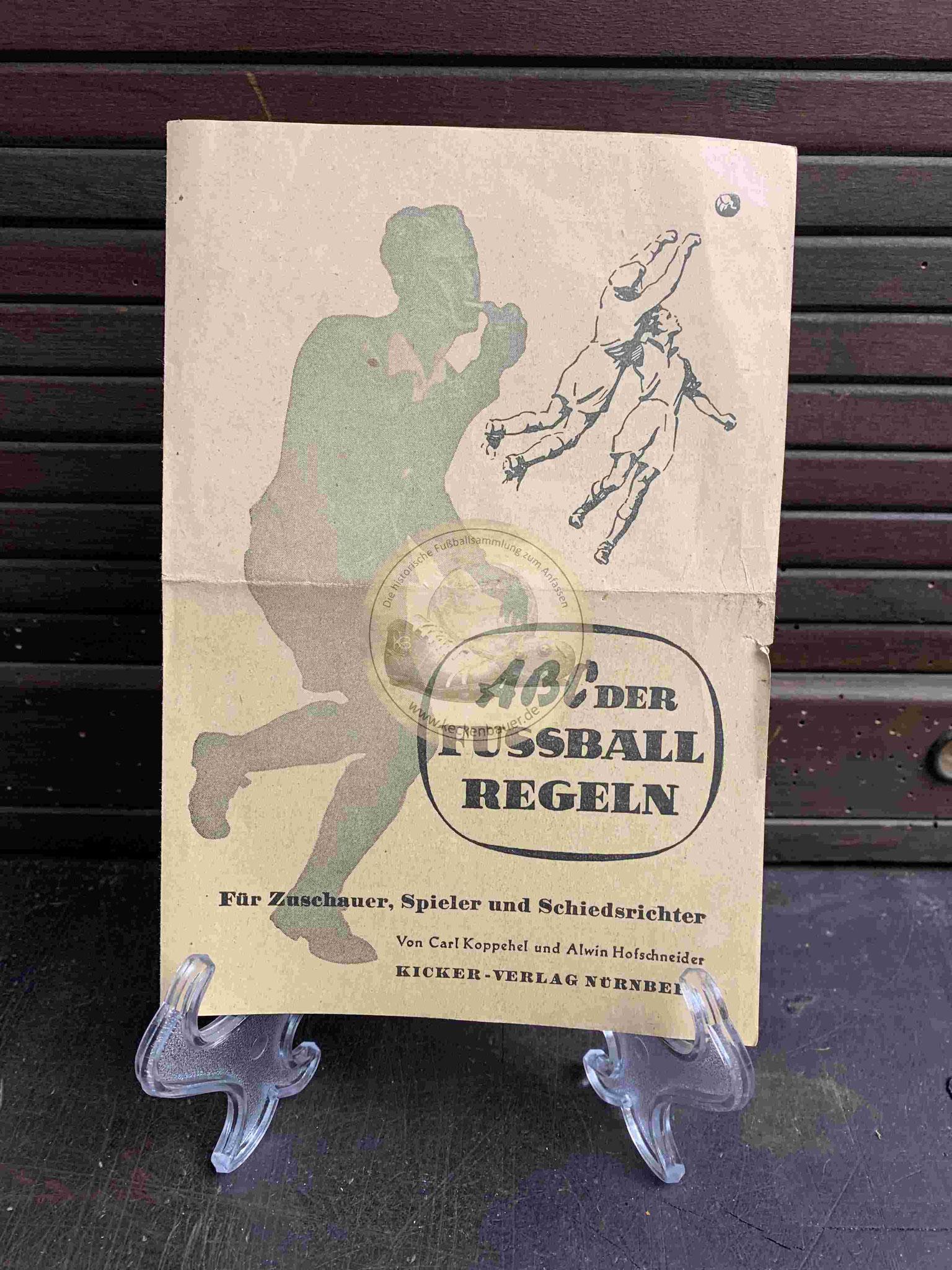 ABC der Fussball Regeln vom Kicker Verlag aus dem Jahr 1940