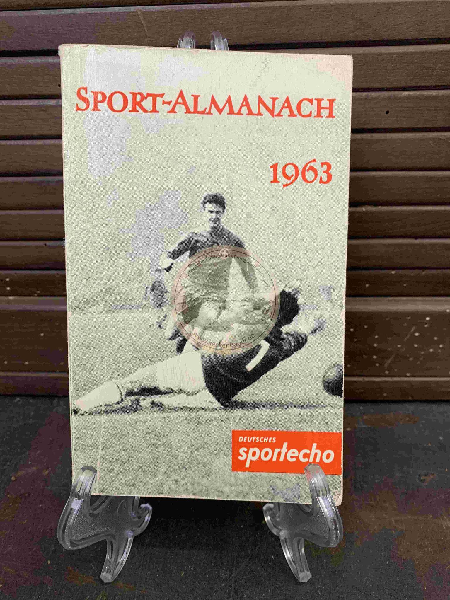 Sport Almanach vom Deutschen Sportecho aus dem Jahr 1963