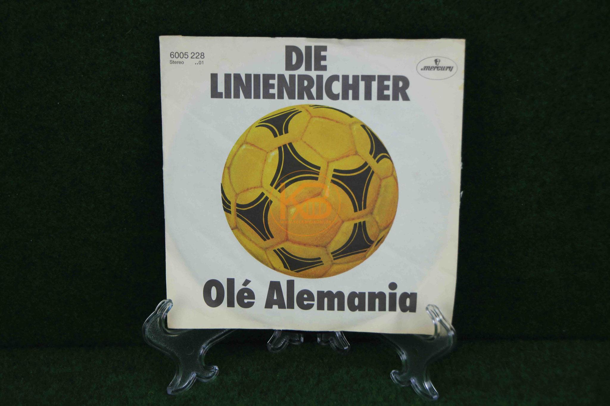 Single LP von Die Linienrichter - Ole Alemania - Fussball Stadionhymne
