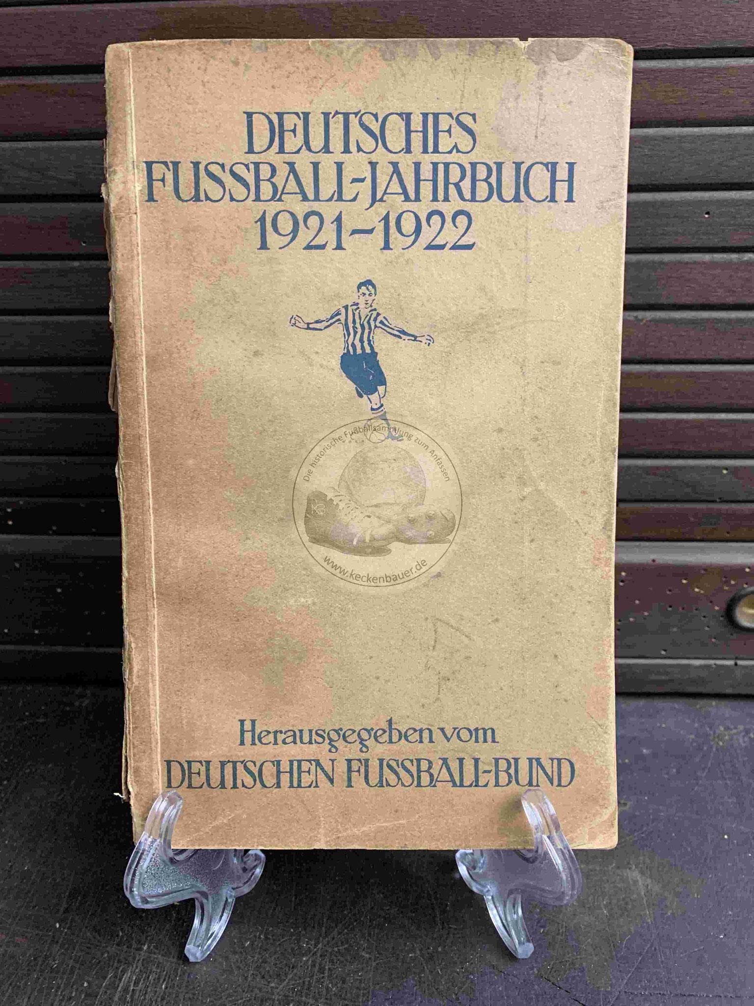 Deutsche Fussball Jahrbuch vom DFB aus dem Jahr 1922