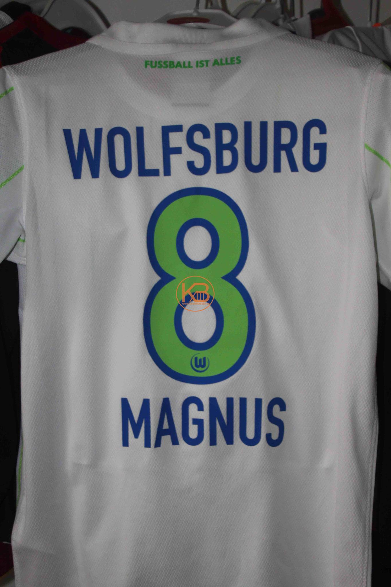 """Trikot mit Eigennamen vom VFL Wolfsburg mit """"seiner"""" Nummer 8 2/2"""