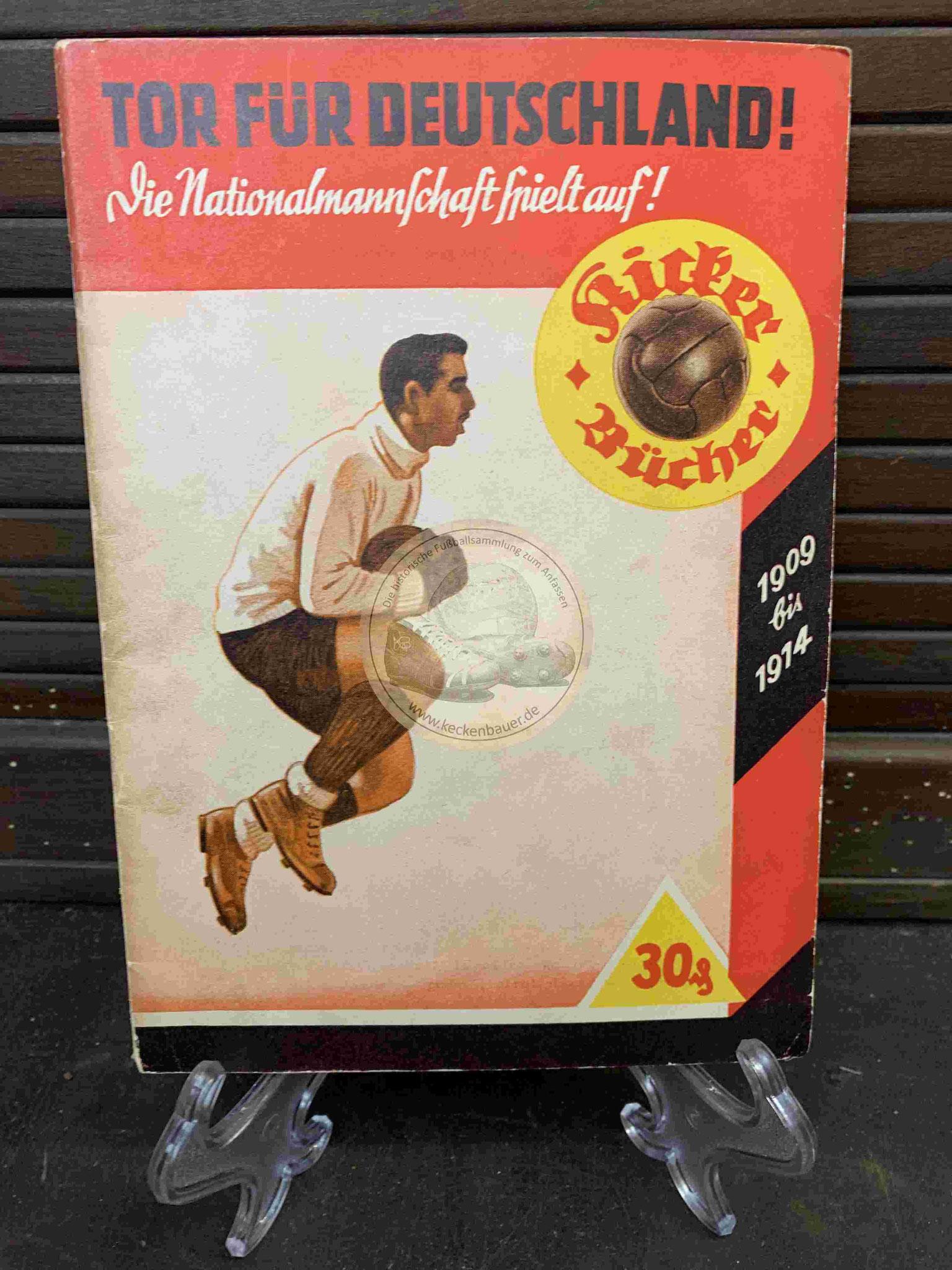 Tor für Deutschland! Die Nationalmannschaft spielt auf! Kicker Bücher aus dem Jahr 1914
