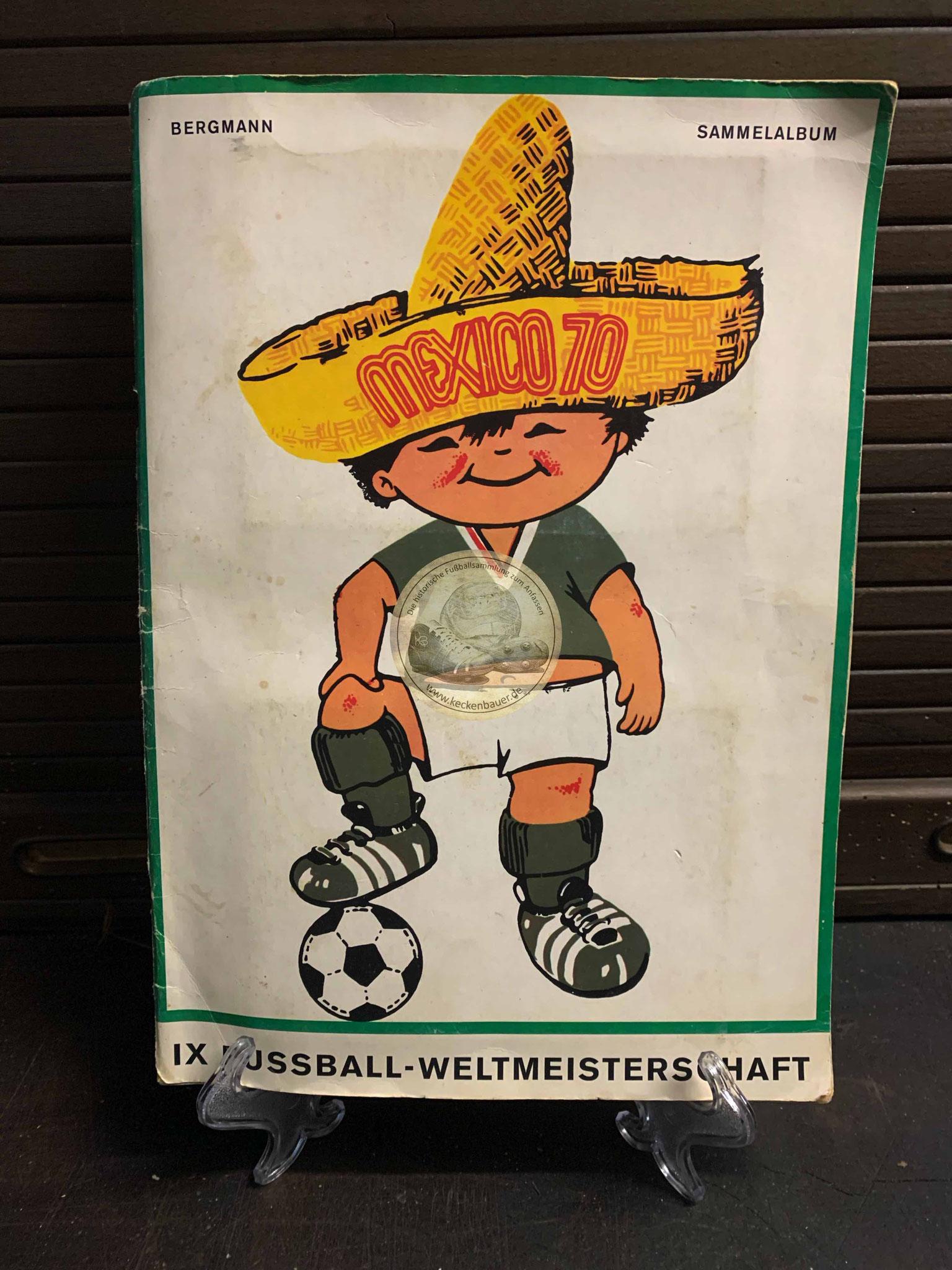 MEXICO 70. IX Fußball-Weltmeisterschaft. Ein Bergmann-Sammelalbum