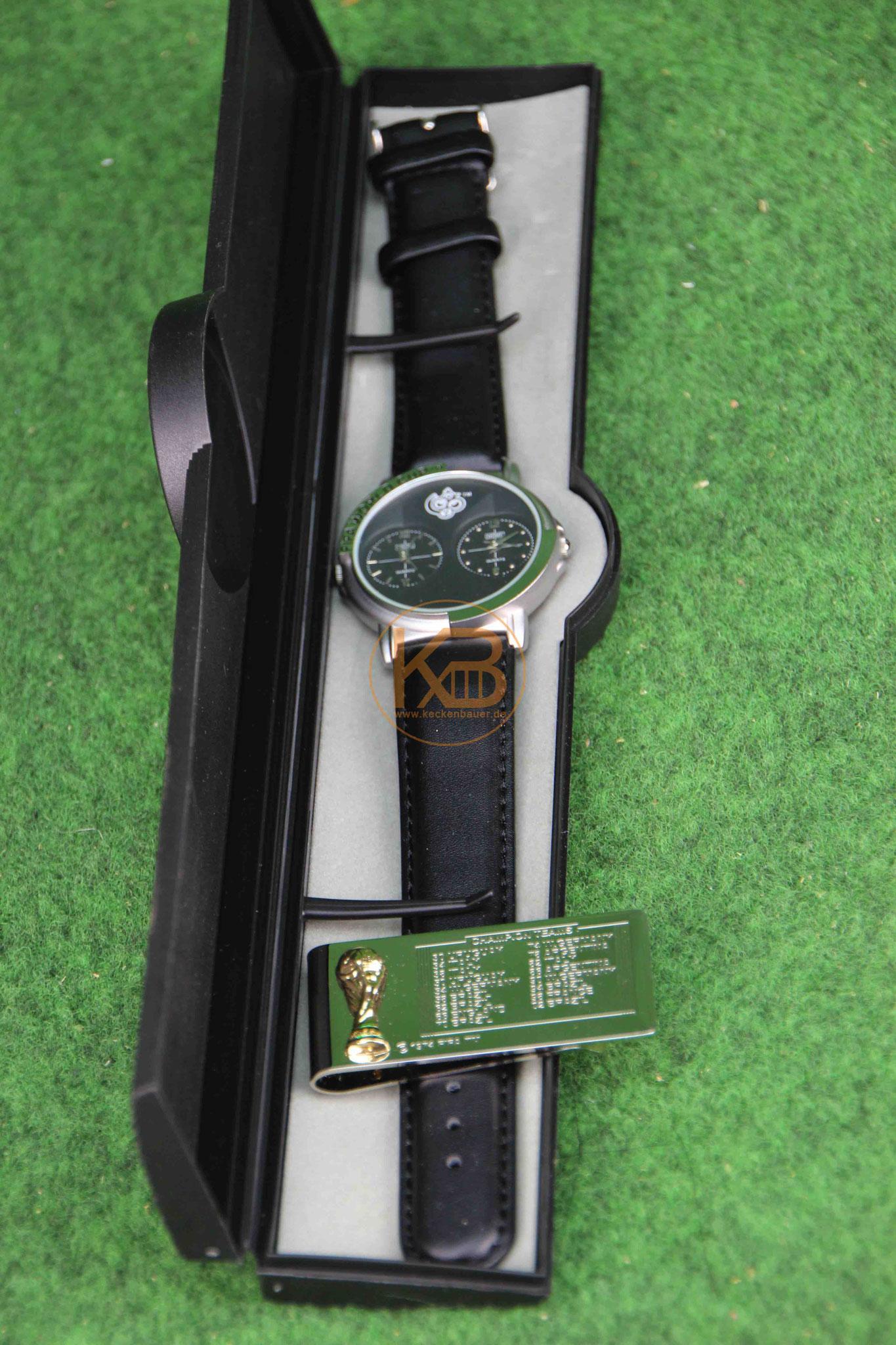 WM 2006 Armbanduhr und Geldklammer in der Original-Schatulle 1/2