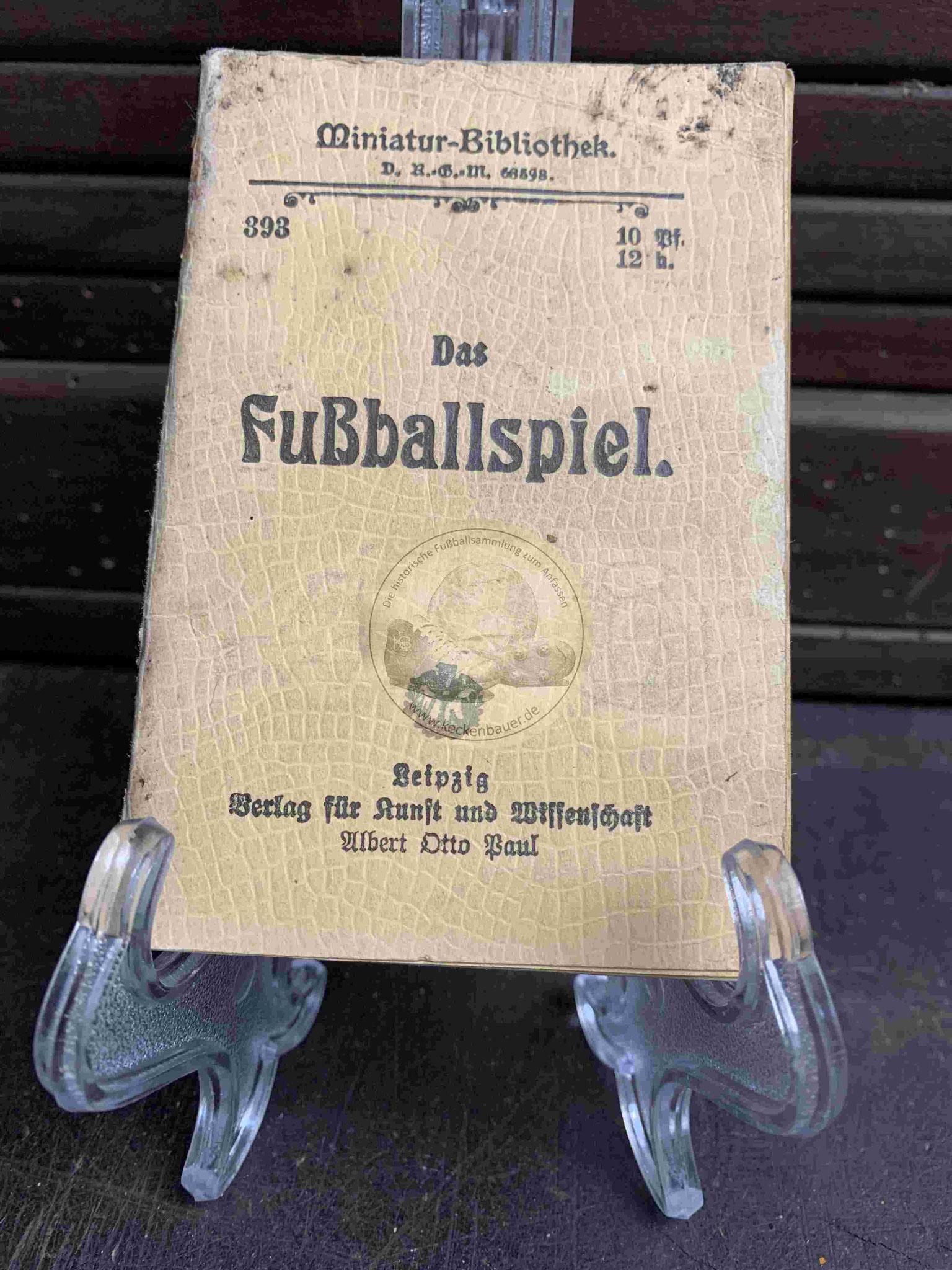 Miniatur Bibliothek Das Fußballspiel aus dem Jahr 1912