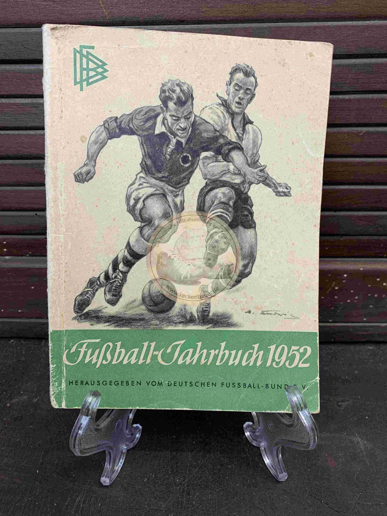 Fußball Jahrbuch vom DFB aus dem Jahr 1952