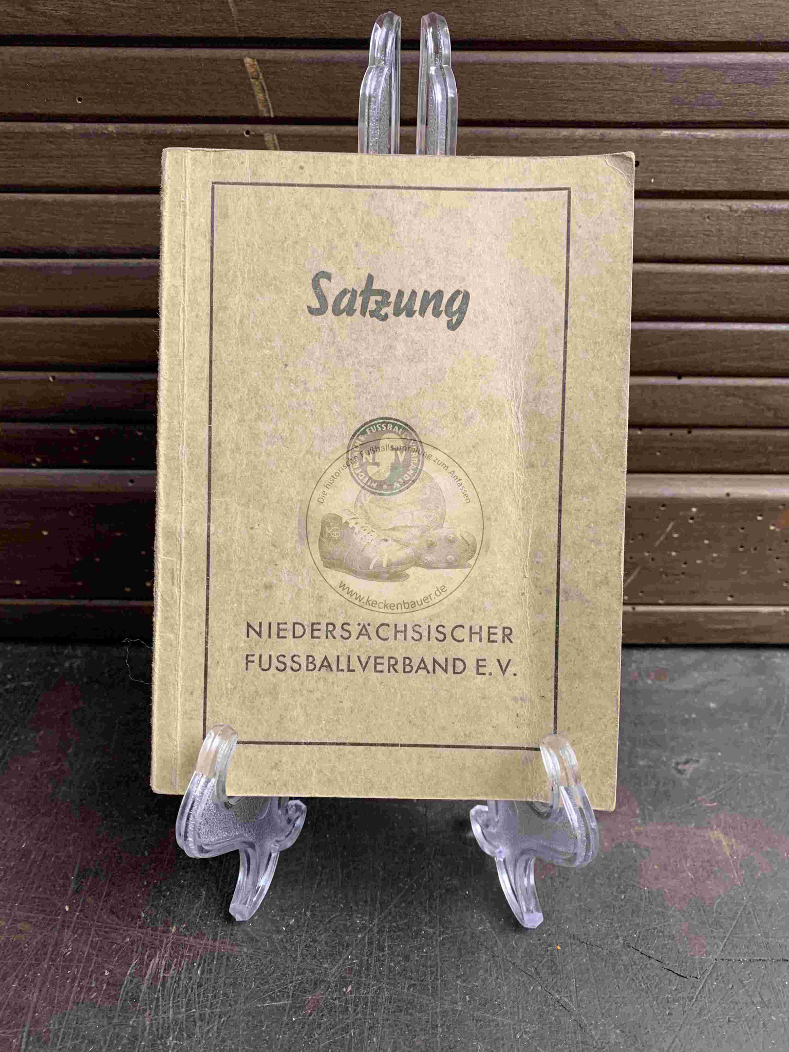 Satzung des Niedersächsischen Fussballverbandes e.V. aus dem Jahr 1950