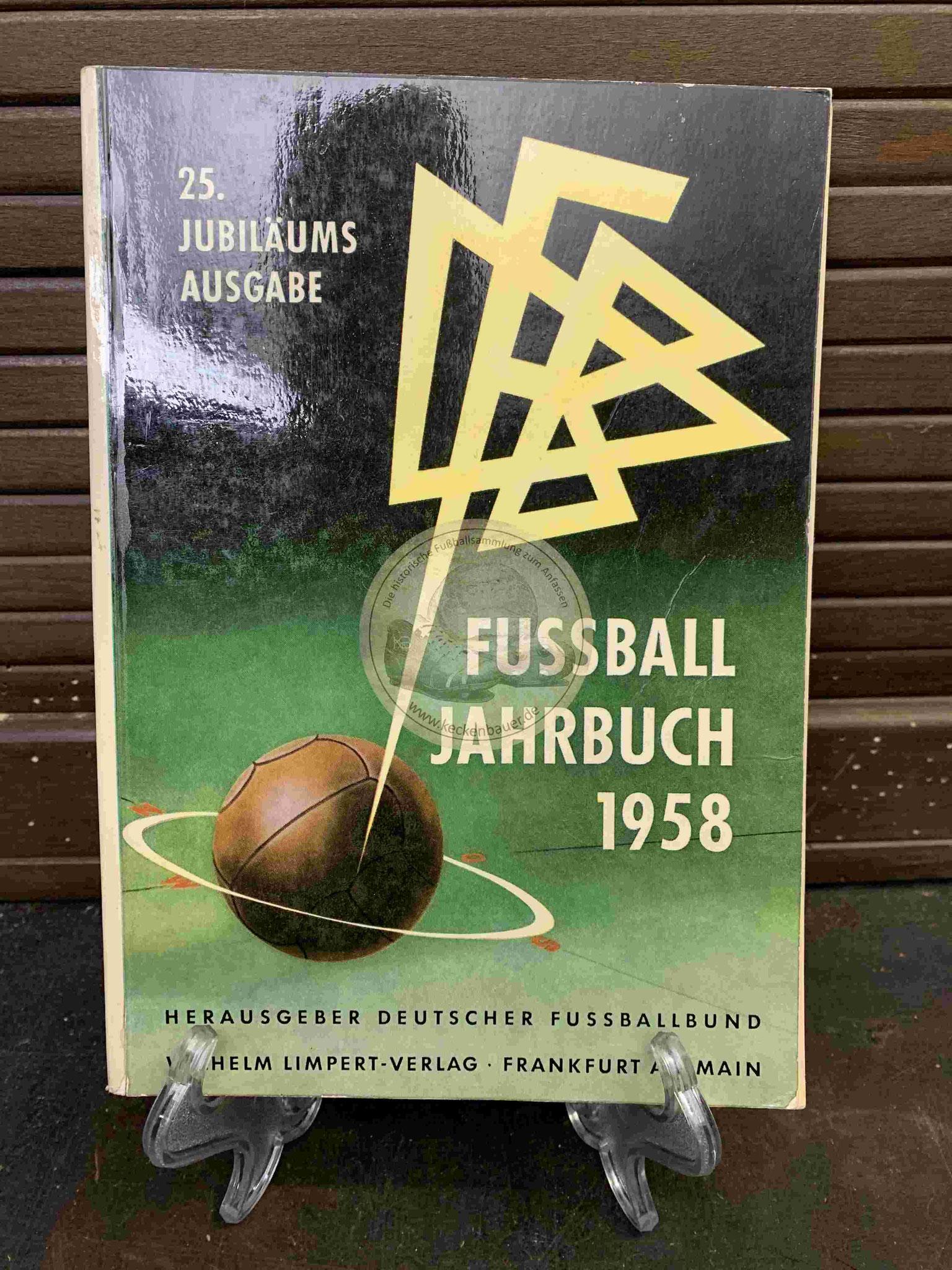 Fußball Jahrbuch 1958 Herausgeber Deutscher Fussballbund