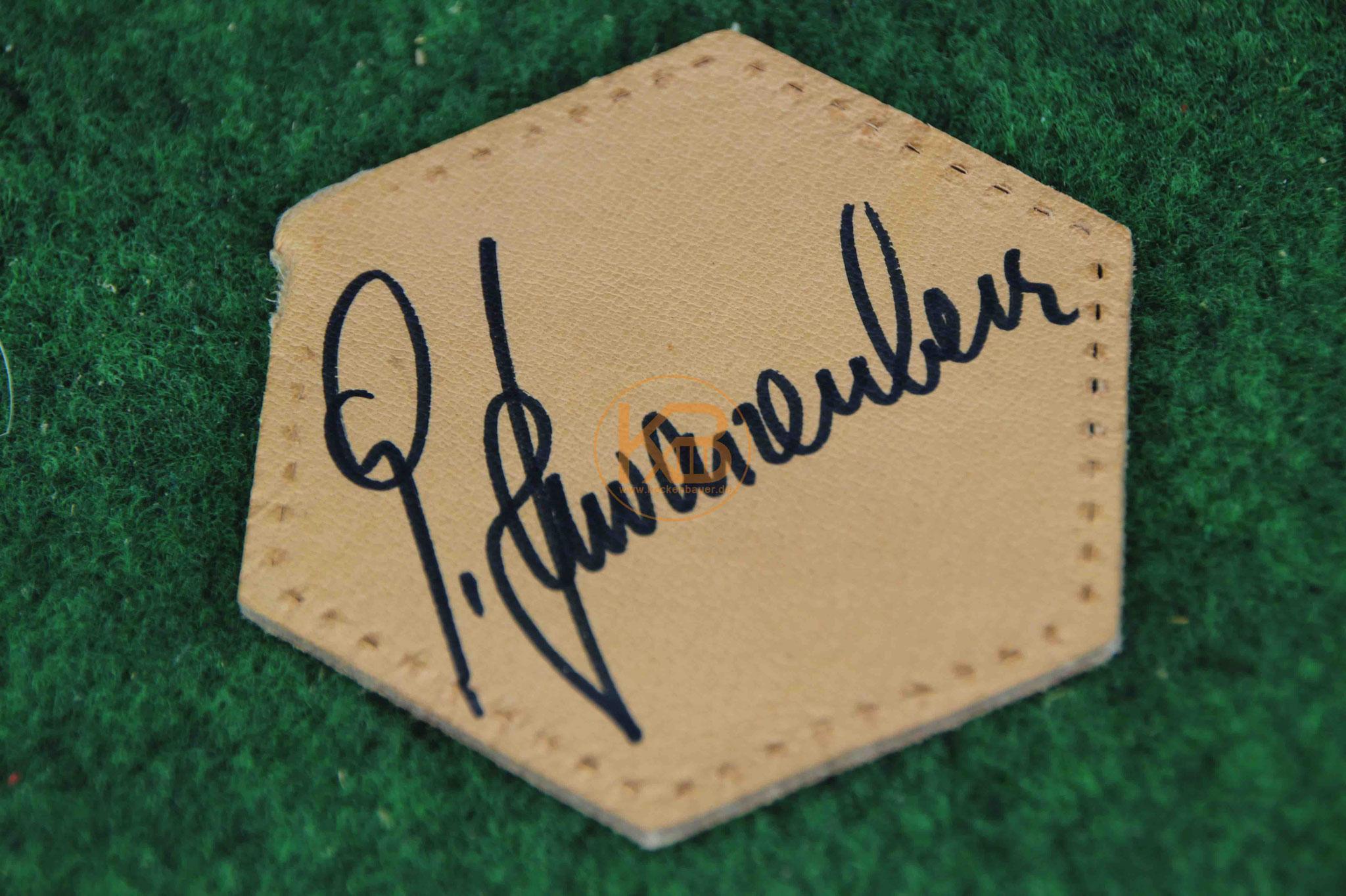 """Original Autogramm von Hans-Georg """"Katsche"""" Schwarzenbeck"""