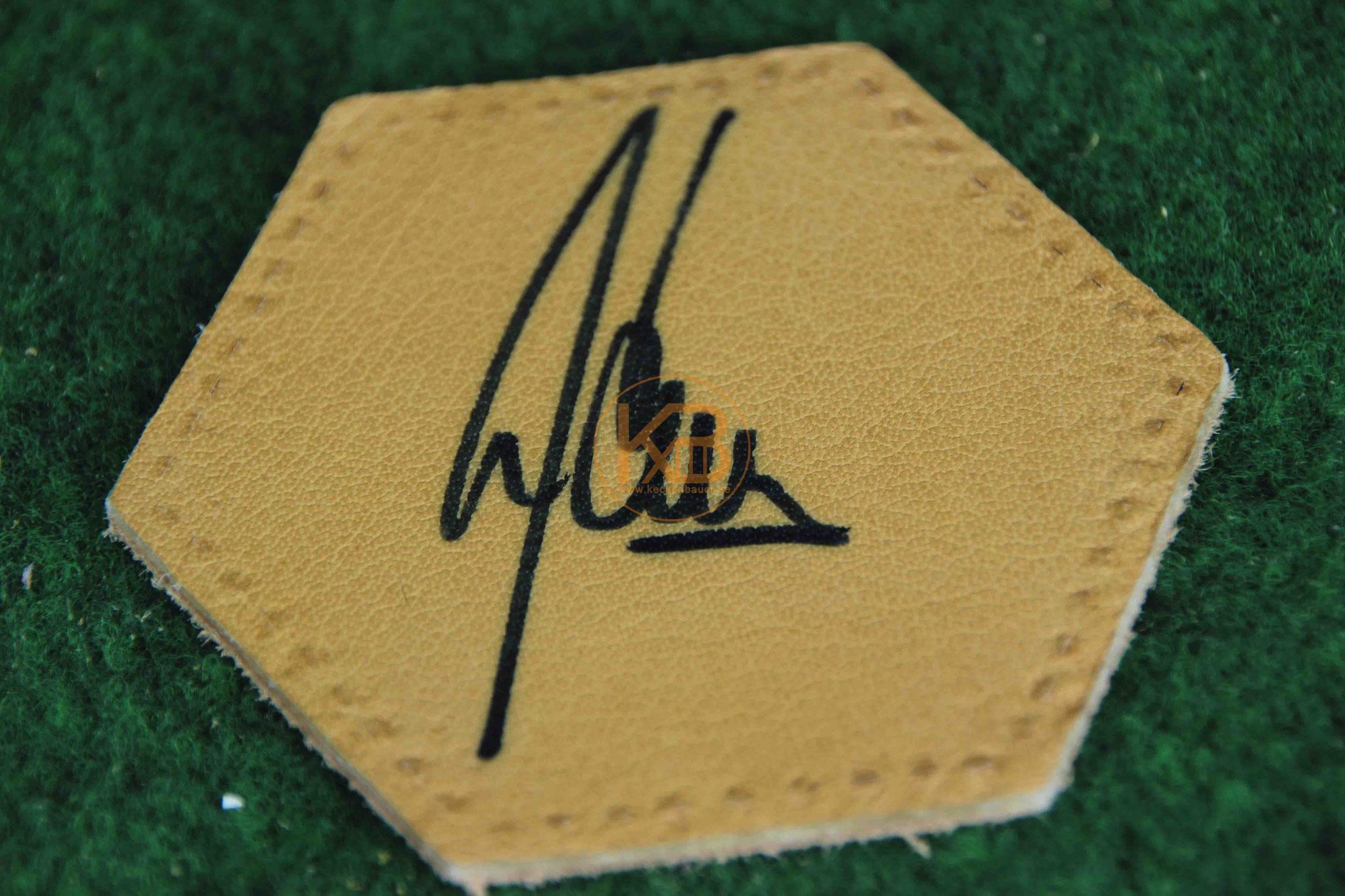"""Original Autogramm von Manfred """"Manni"""" Kaltz"""