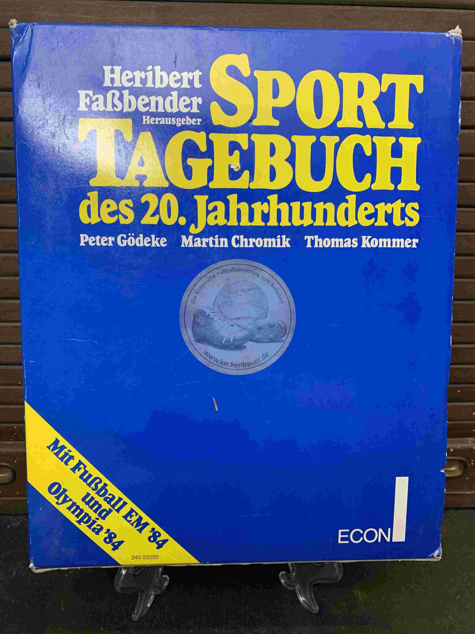 Heribert Faßbender Sport Tagebuch des 20. Jahrhunderts aus dem Jahr 1984