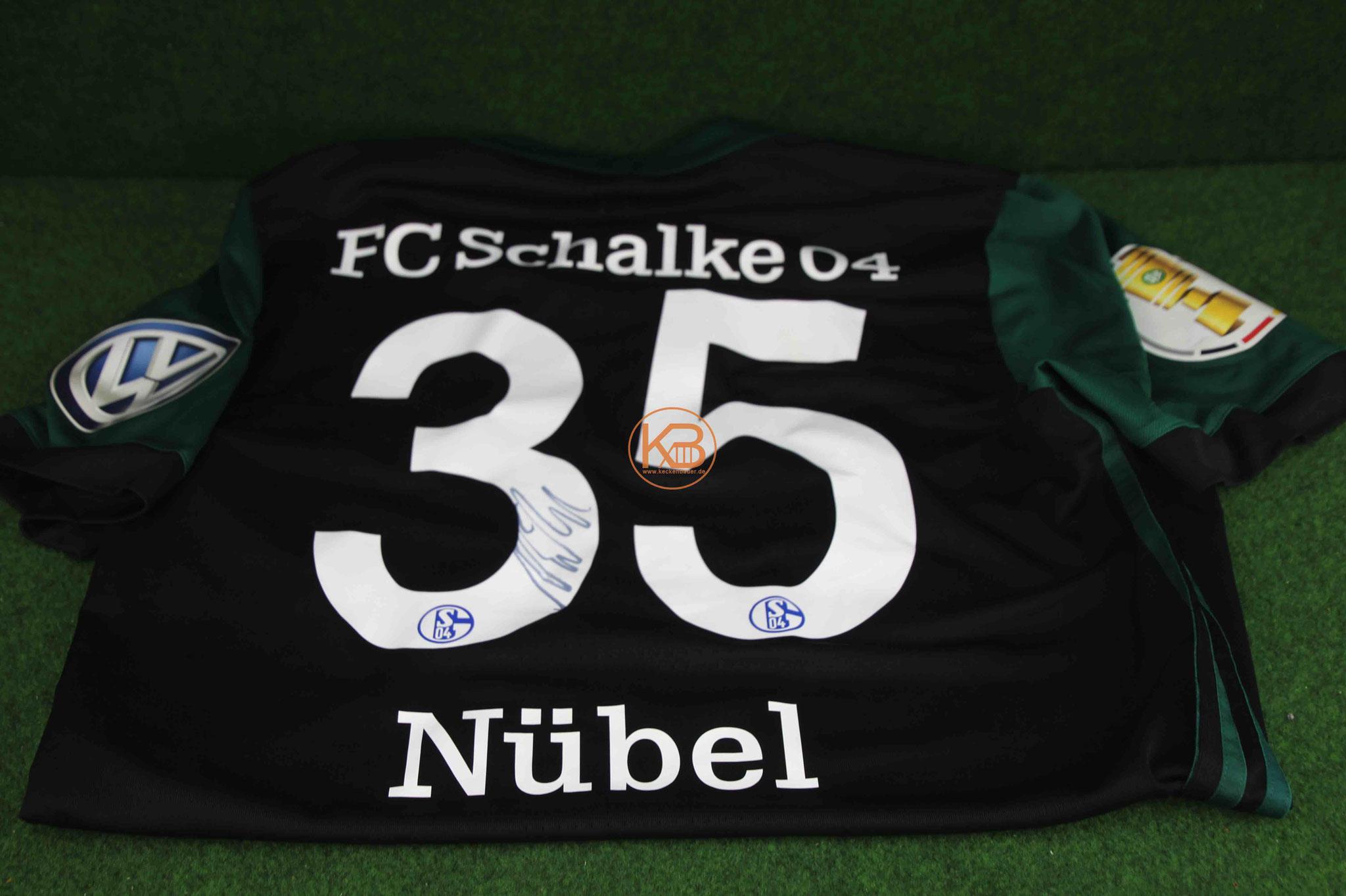 Ein original Matchprepared DFB Pokal Trikot von Schalke 04 inkl. Autogramm von Alexander Nübel 2/2