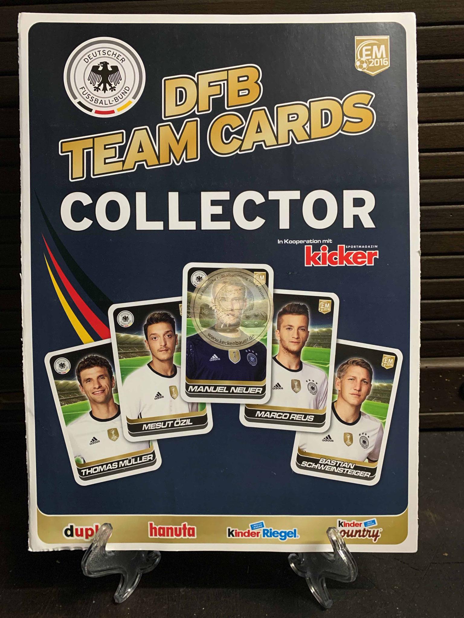 DFB Team Card Collection von Hanuta duplo Kinder Riegel zu EM 2016